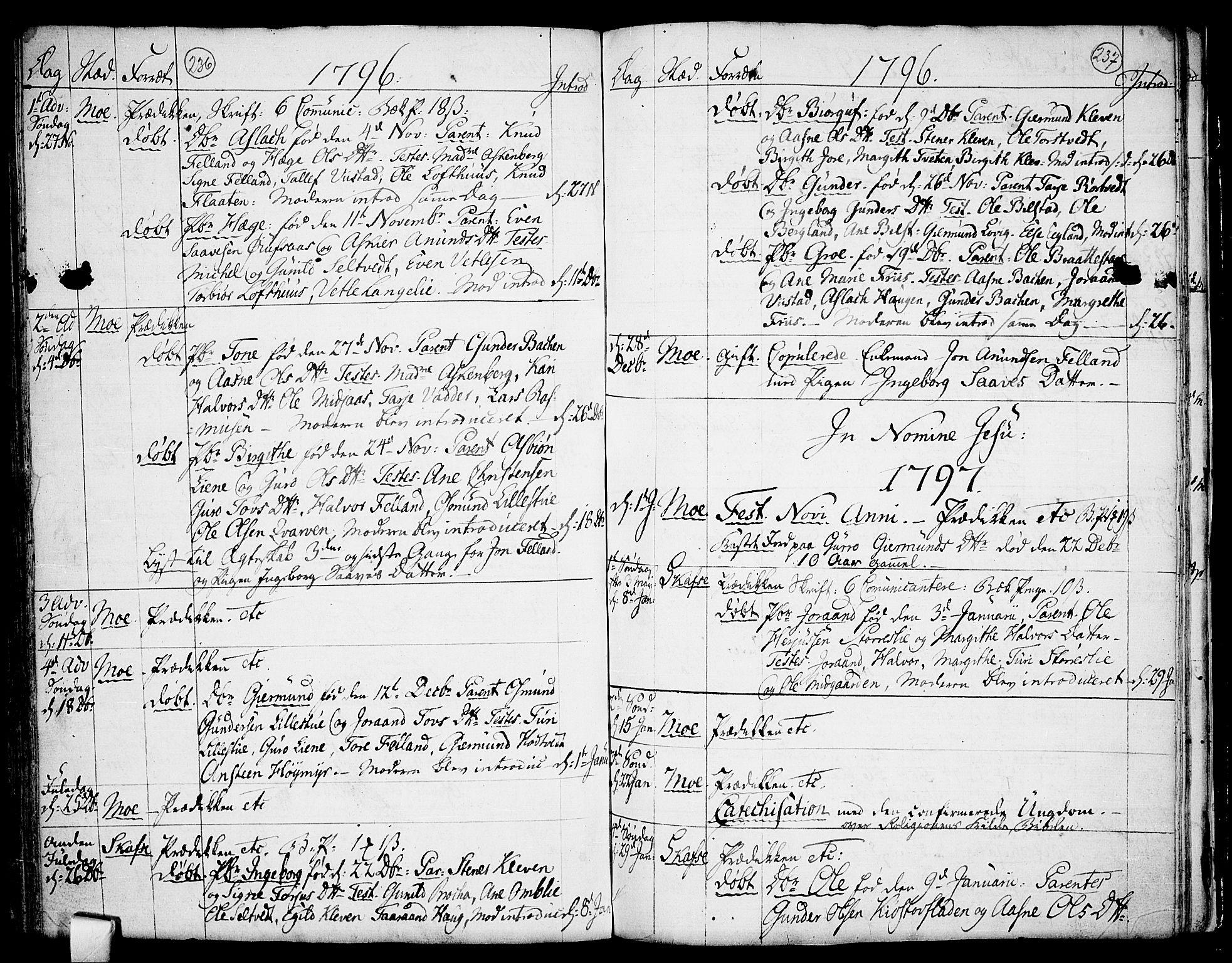 SAKO, Mo kirkebøker, F/Fa/L0002: Ministerialbok nr. I 2, 1766-1799, s. 236-237