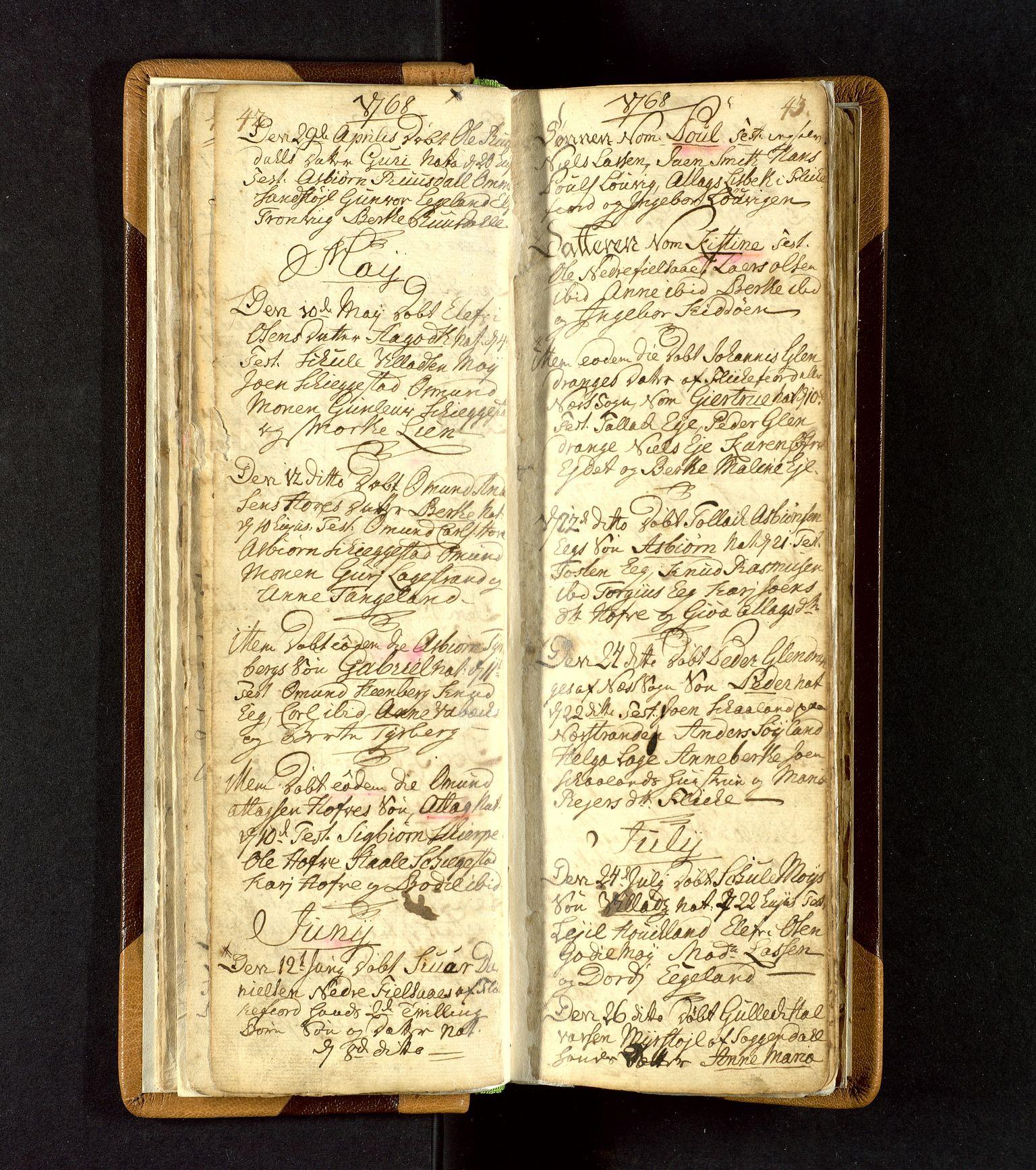 SAST, Lund sokneprestkontor, Ministerialbok nr. A 3, 1761-1801, s. 42-43