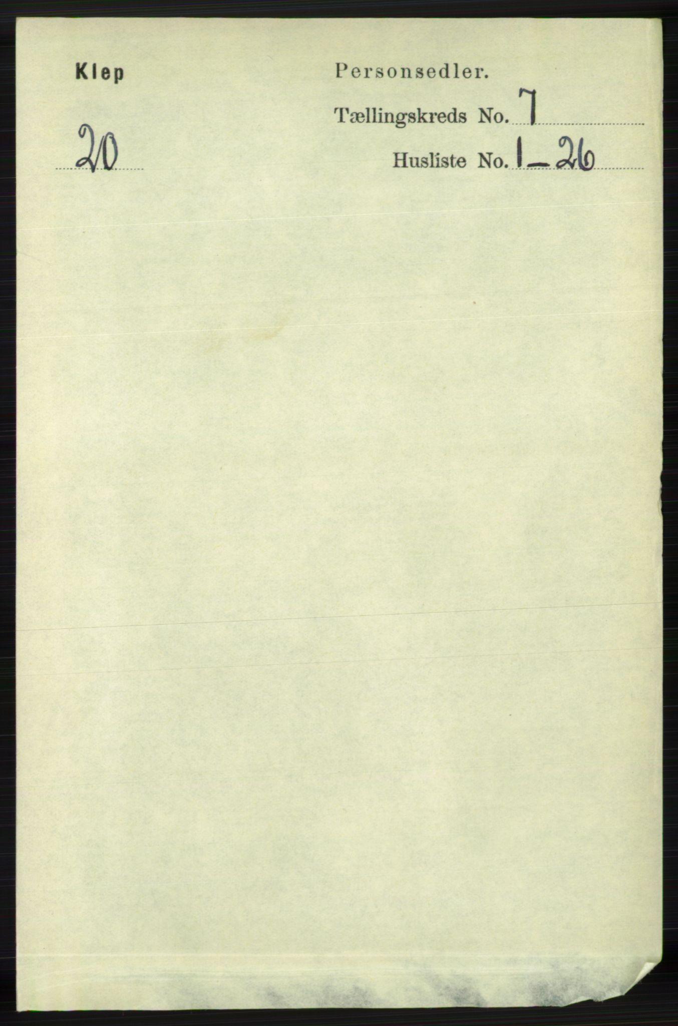 RA, Folketelling 1891 for 1120 Klepp herred, 1891, s. 2108