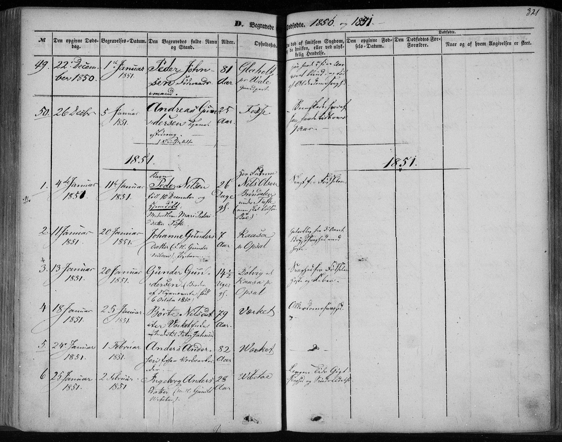SAKO, Holla kirkebøker, F/Fa/L0005: Ministerialbok nr. 5, 1849-1860, s. 321