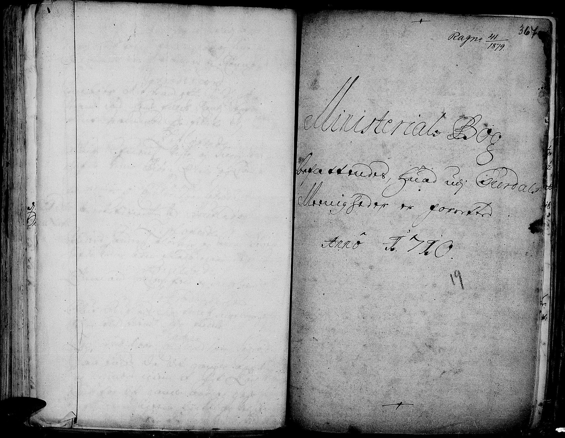 SAH, Aurdal prestekontor, Ministerialbok nr. 1-3, 1692-1730, s. 367