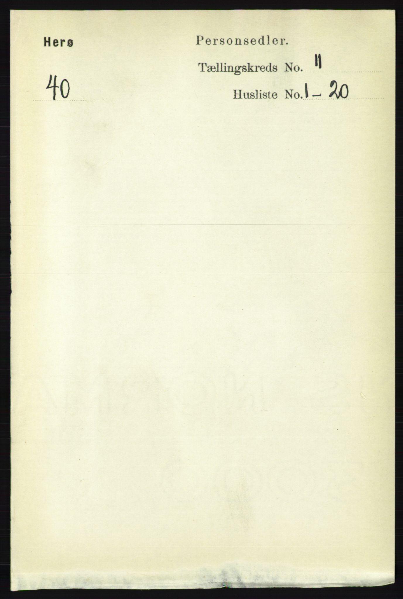 RA, Folketelling 1891 for 1818 Herøy herred, 1891, s. 4349