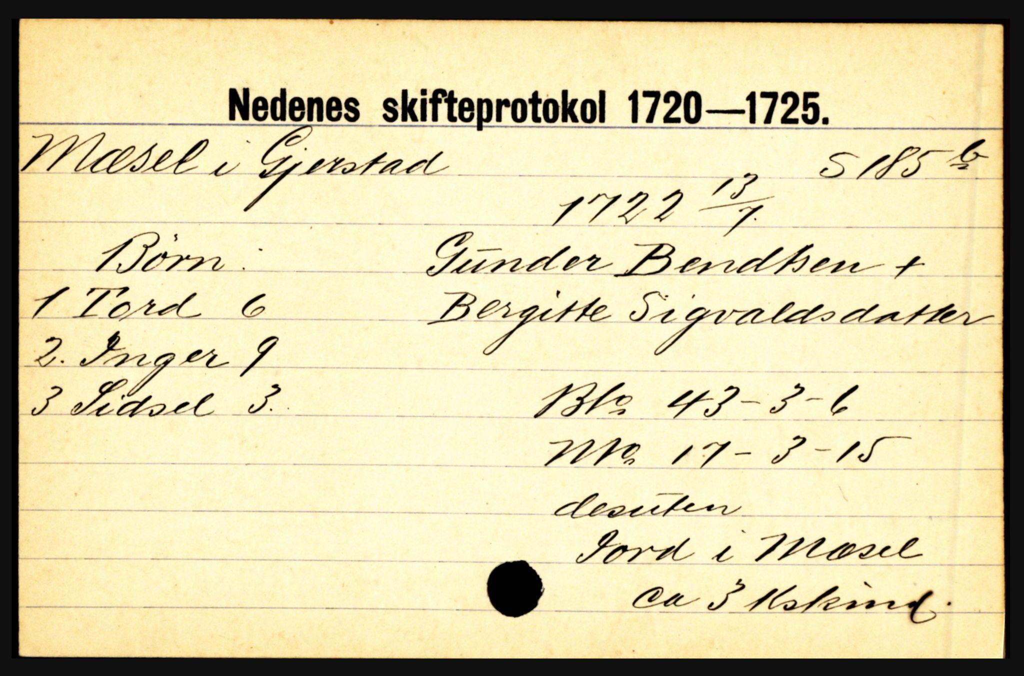 SAK, Nedenes sorenskriveri før 1824, H, s. 20633