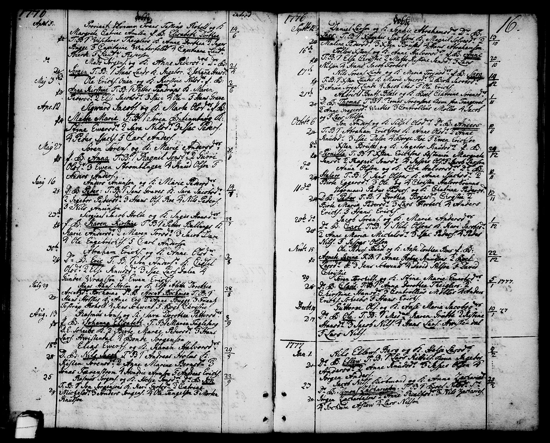 SAKO, Brevik kirkebøker, F/Fa/L0003: Ministerialbok nr. 3, 1764-1814, s. 16