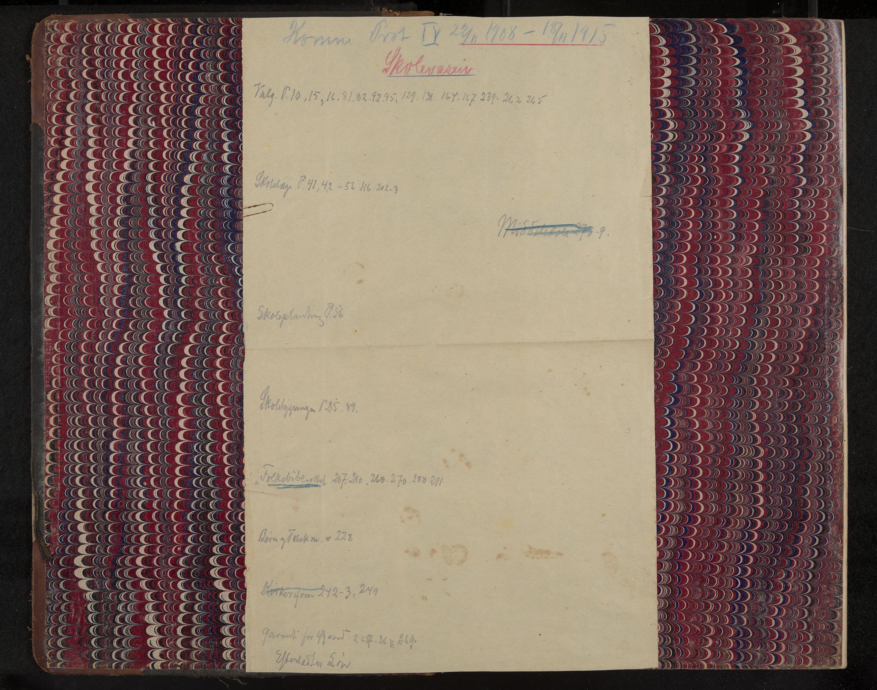 IKAK, Åsgårdstrand formannskap og sentraladministrasjon, A/L0004: Møtebok med register, 1908-1915