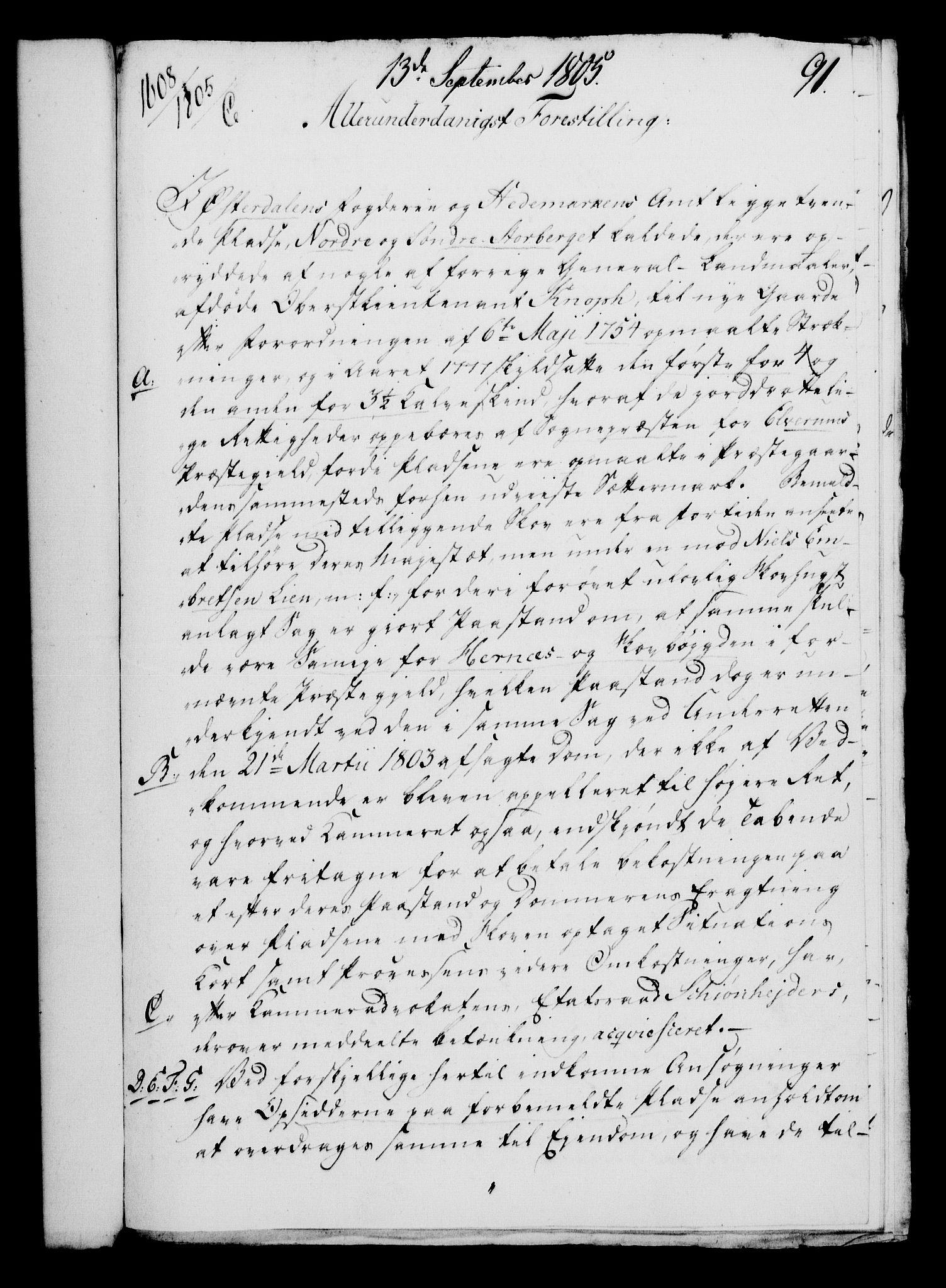 RA, Rentekammeret, Kammerkanselliet, G/Gf/Gfa/L0087: Norsk relasjons- og resolusjonsprotokoll (merket RK 52.87), 1805, s. 505