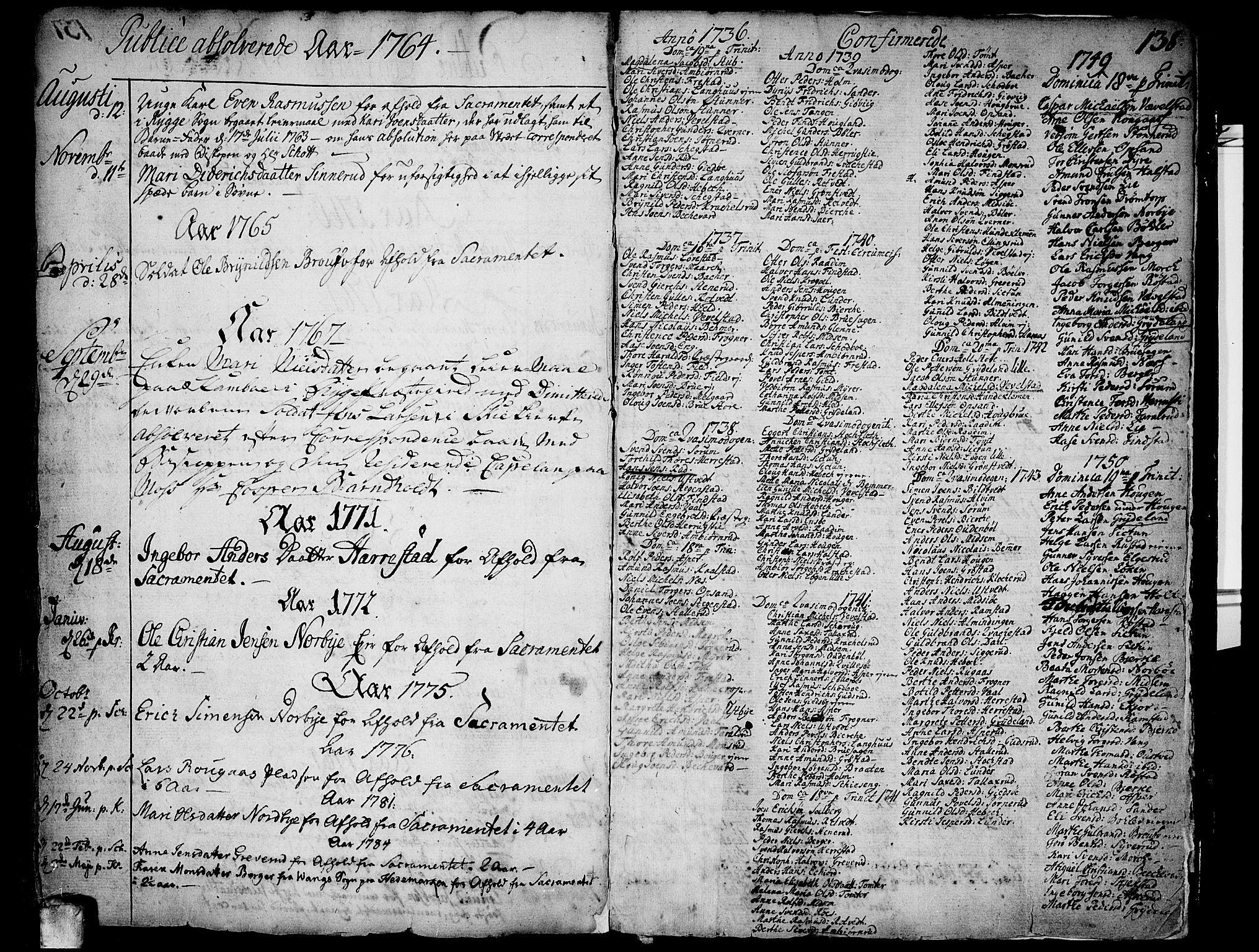 SAO, Kråkstad prestekontor Kirkebøker, F/Fa/L0001: Ministerialbok nr. I 1, 1736-1785, s. 138