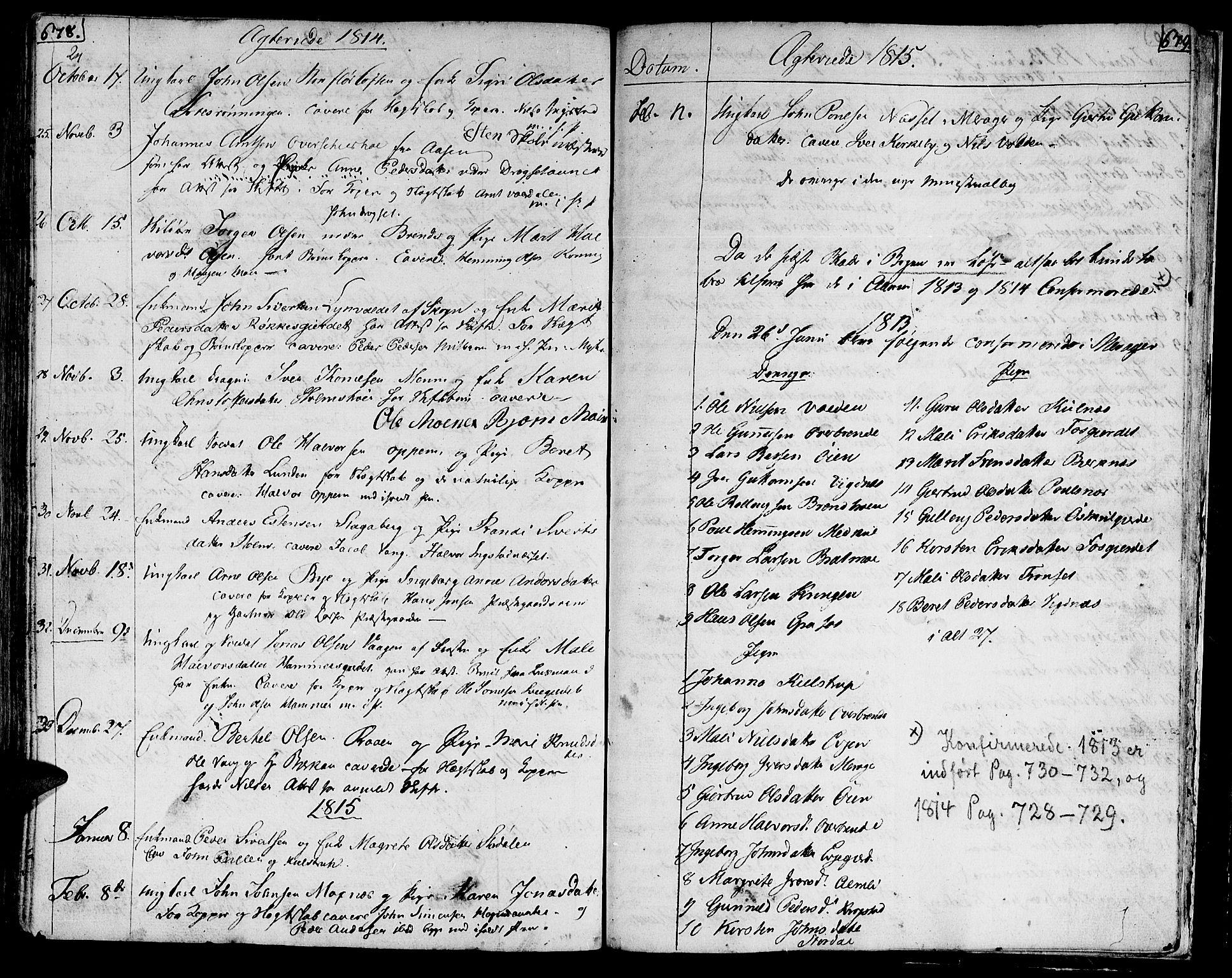 SAT, Ministerialprotokoller, klokkerbøker og fødselsregistre - Nord-Trøndelag, 709/L0060: Ministerialbok nr. 709A07, 1797-1815, s. 678-679