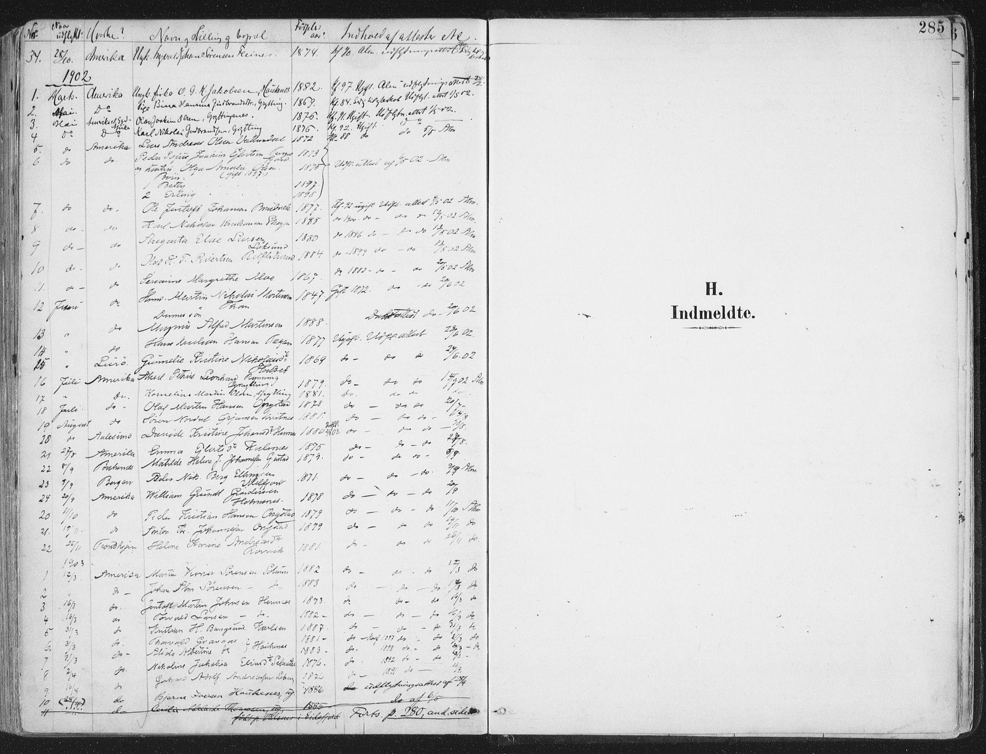 SAT, Ministerialprotokoller, klokkerbøker og fødselsregistre - Nordland, 888/L1246: Ministerialbok nr. 888A12, 1891-1903, s. 285