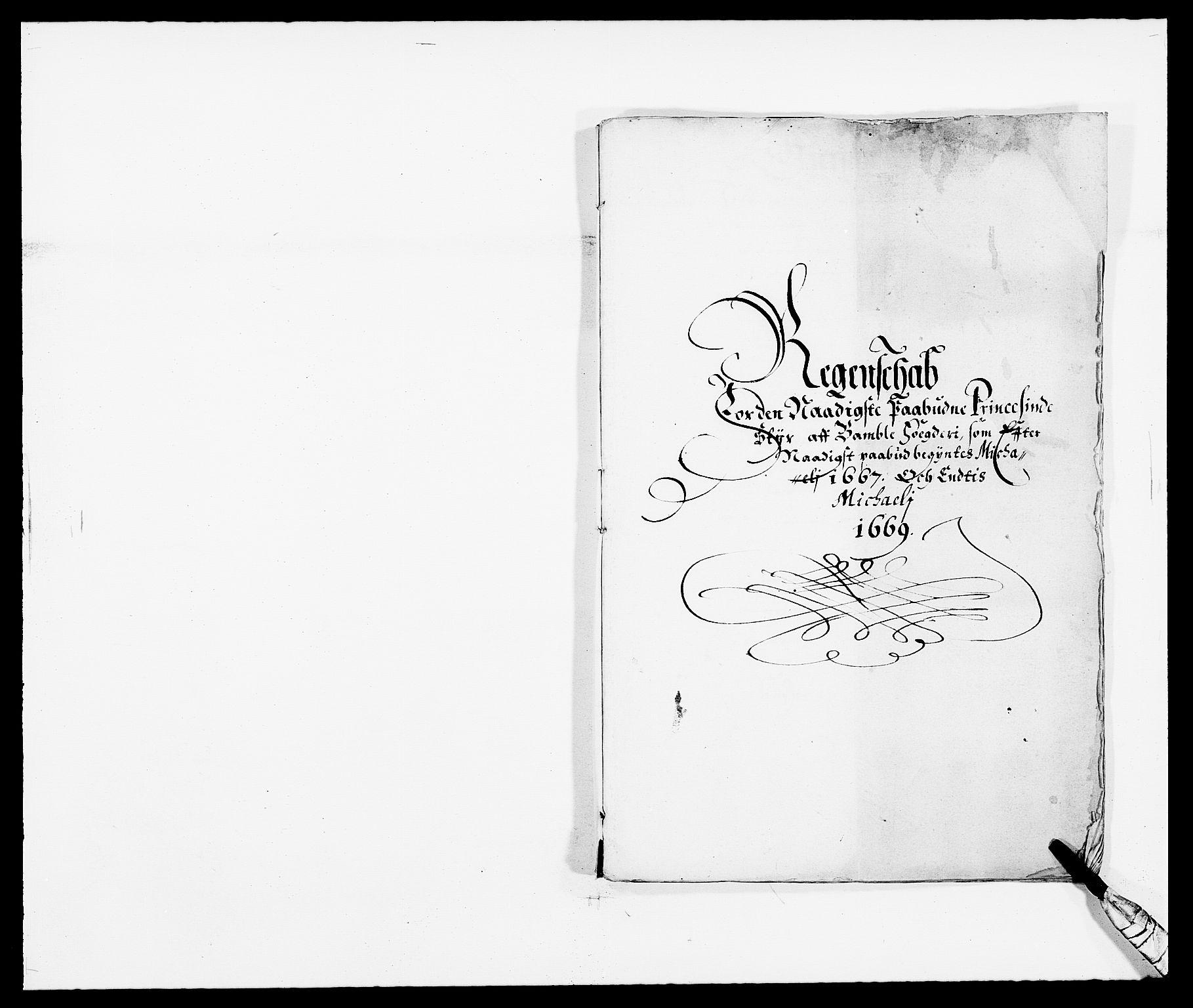 RA, Rentekammeret inntil 1814, Reviderte regnskaper, Fogderegnskap, R34/L2040: Fogderegnskap Bamble, 1662-1669, s. 264