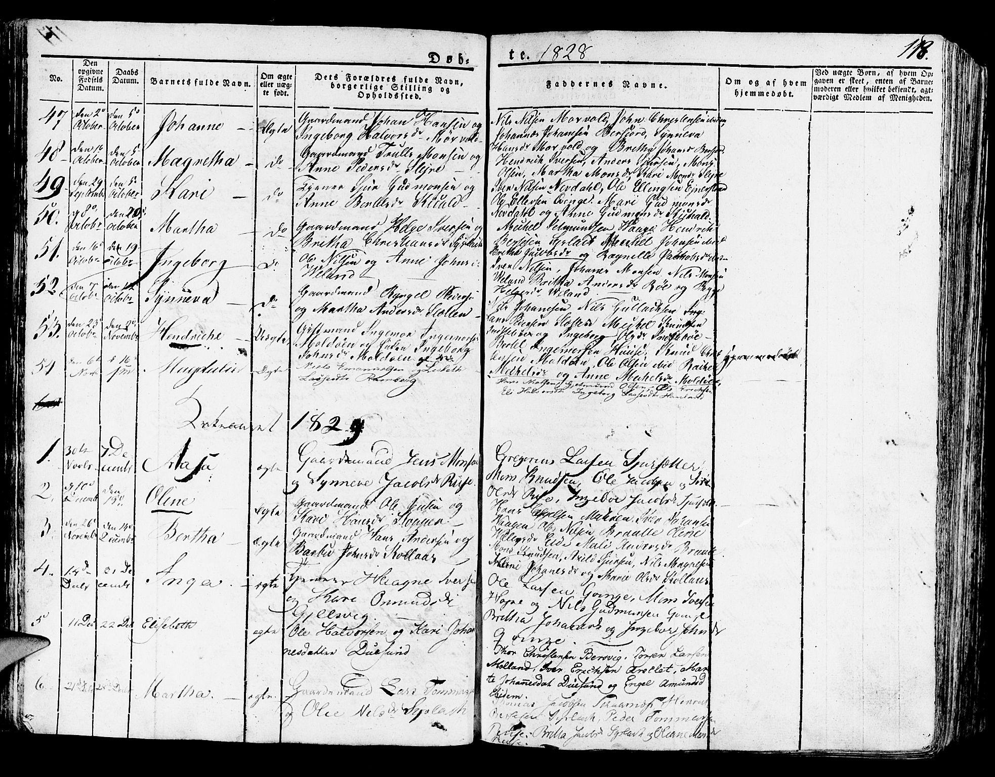 SAB, Lindås Sokneprestembete, H/Haa: Ministerialbok nr. A 8, 1823-1836, s. 118