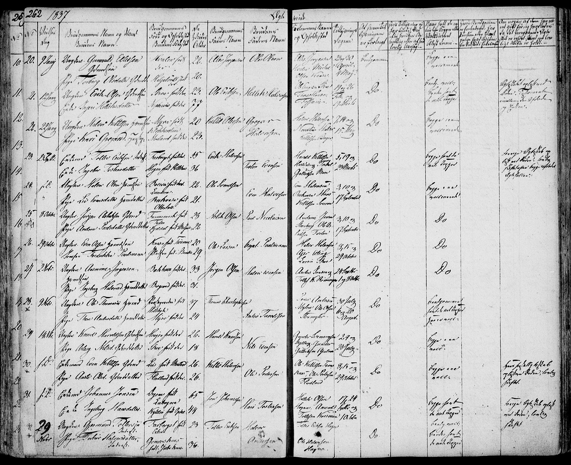 SAKO, Bø kirkebøker, F/Fa/L0007: Ministerialbok nr. 7, 1831-1848, s. 262