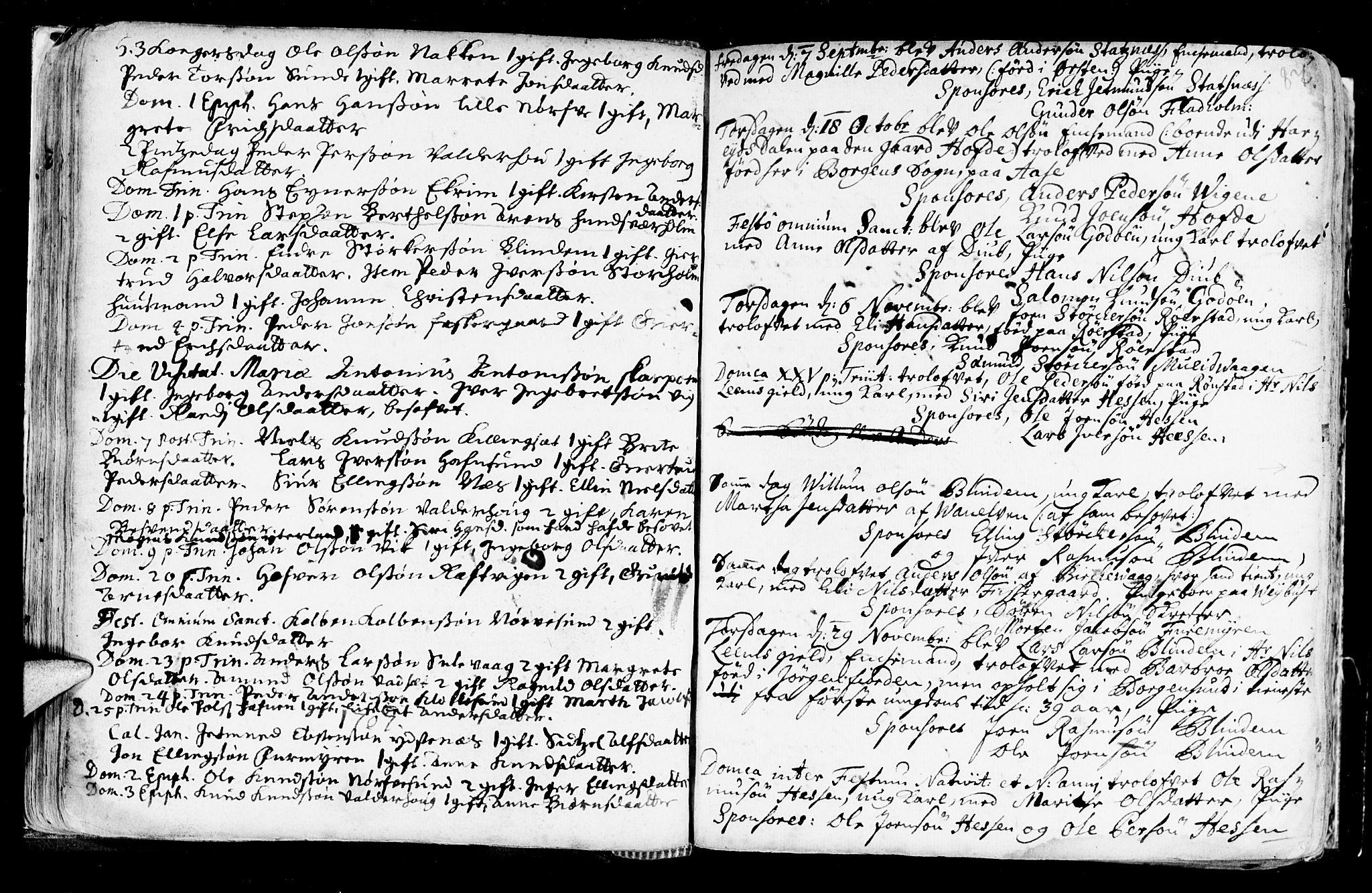 SAT, Ministerialprotokoller, klokkerbøker og fødselsregistre - Møre og Romsdal, 528/L0390: Ministerialbok nr. 528A01, 1698-1739, s. 86-87