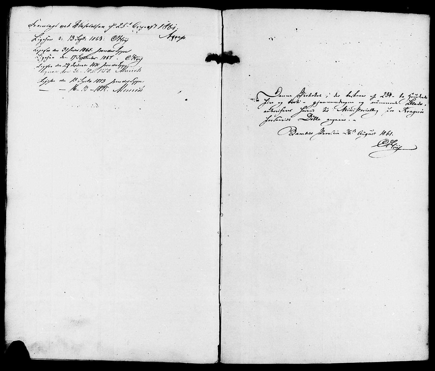 SAKO, Kragerø kirkebøker, F/Fa/L0007: Ministerialbok nr. 7, 1861-1875