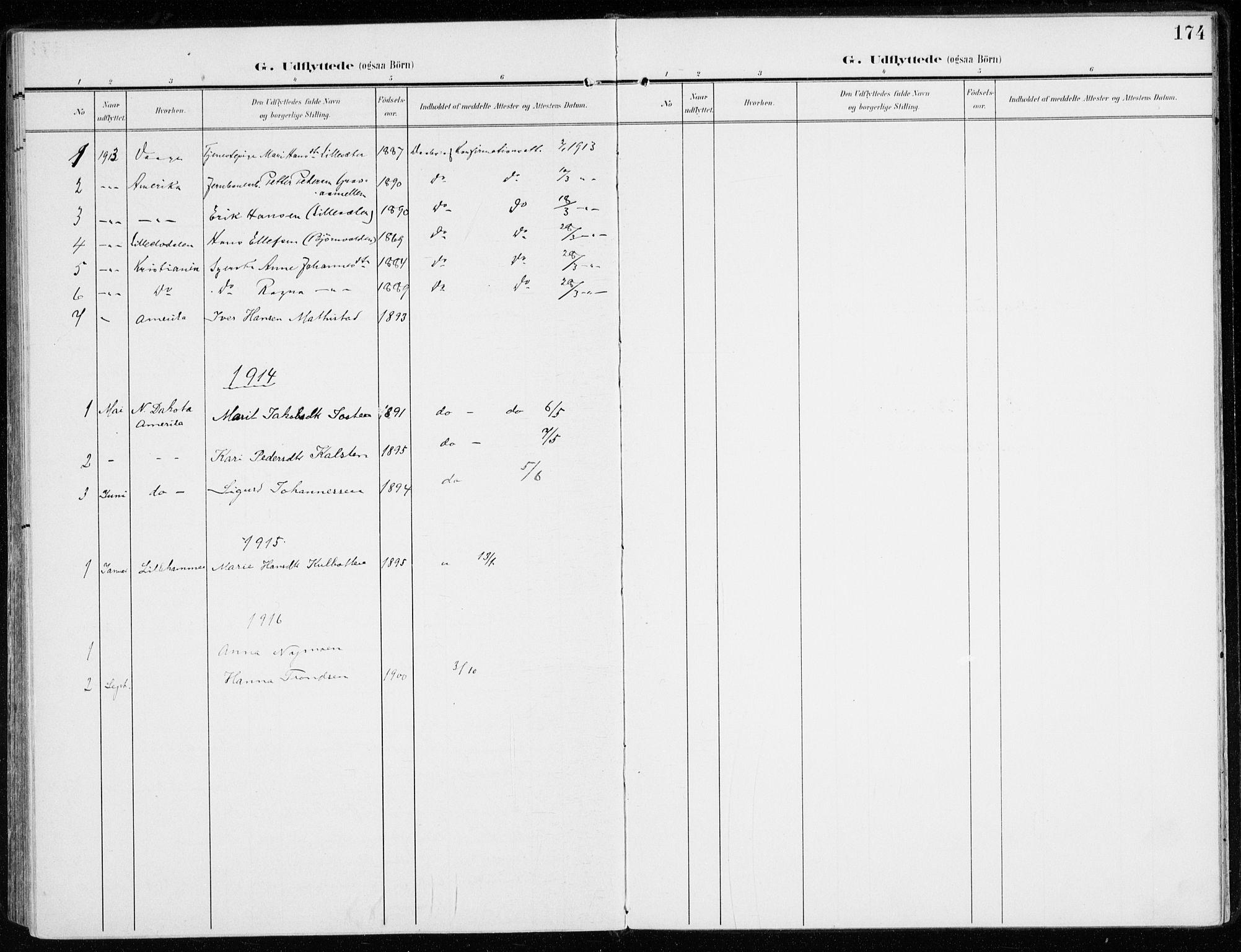 SAH, Sel prestekontor, Ministerialbok nr. 2, 1905-1919, s. 174