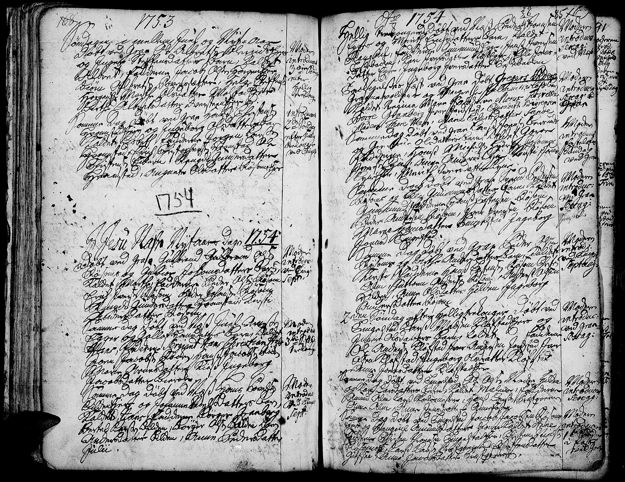 SAH, Gran prestekontor, Ministerialbok nr. 3, 1745-1758, s. 85