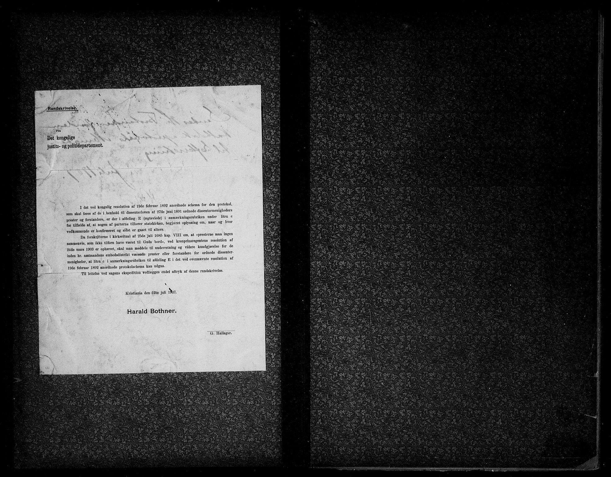 SAO, Den katolsk apostoliske menighet i Oslo , F/Fa/L0002: Dissenterprotokoll nr. 2, 1892-1937
