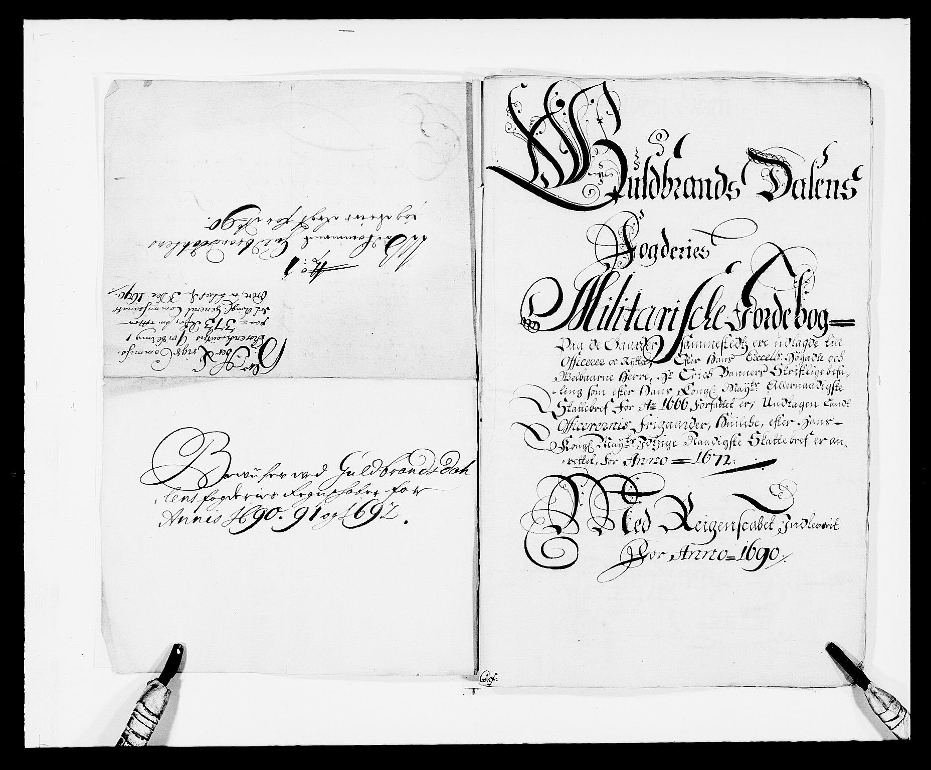RA, Rentekammeret inntil 1814, Reviderte regnskaper, Fogderegnskap, R17/L1165: Fogderegnskap Gudbrandsdal, 1690-1692, s. 177