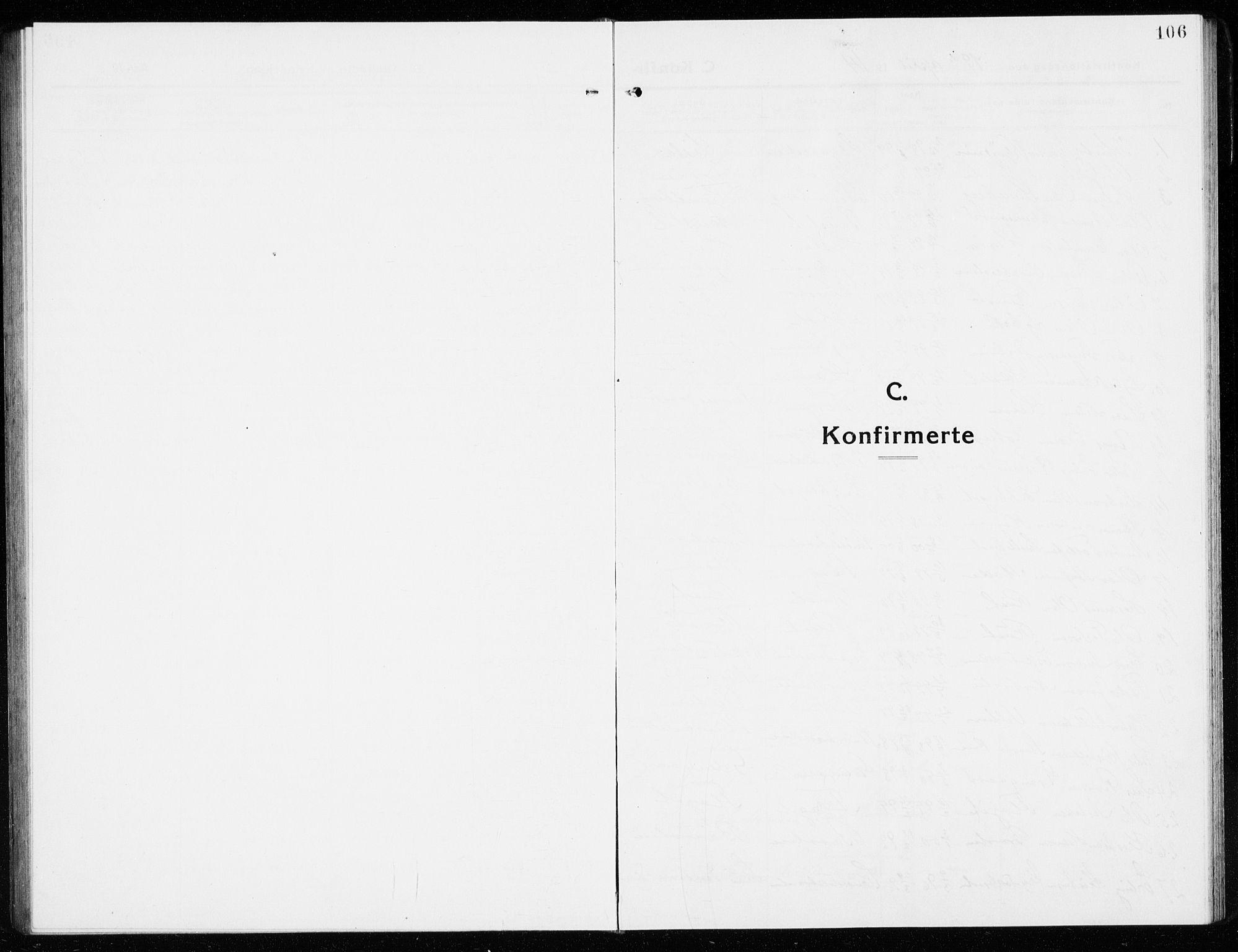 SAKO, Gol kirkebøker, G/Ga/L0004: Klokkerbok nr. I 4, 1915-1943, s. 106