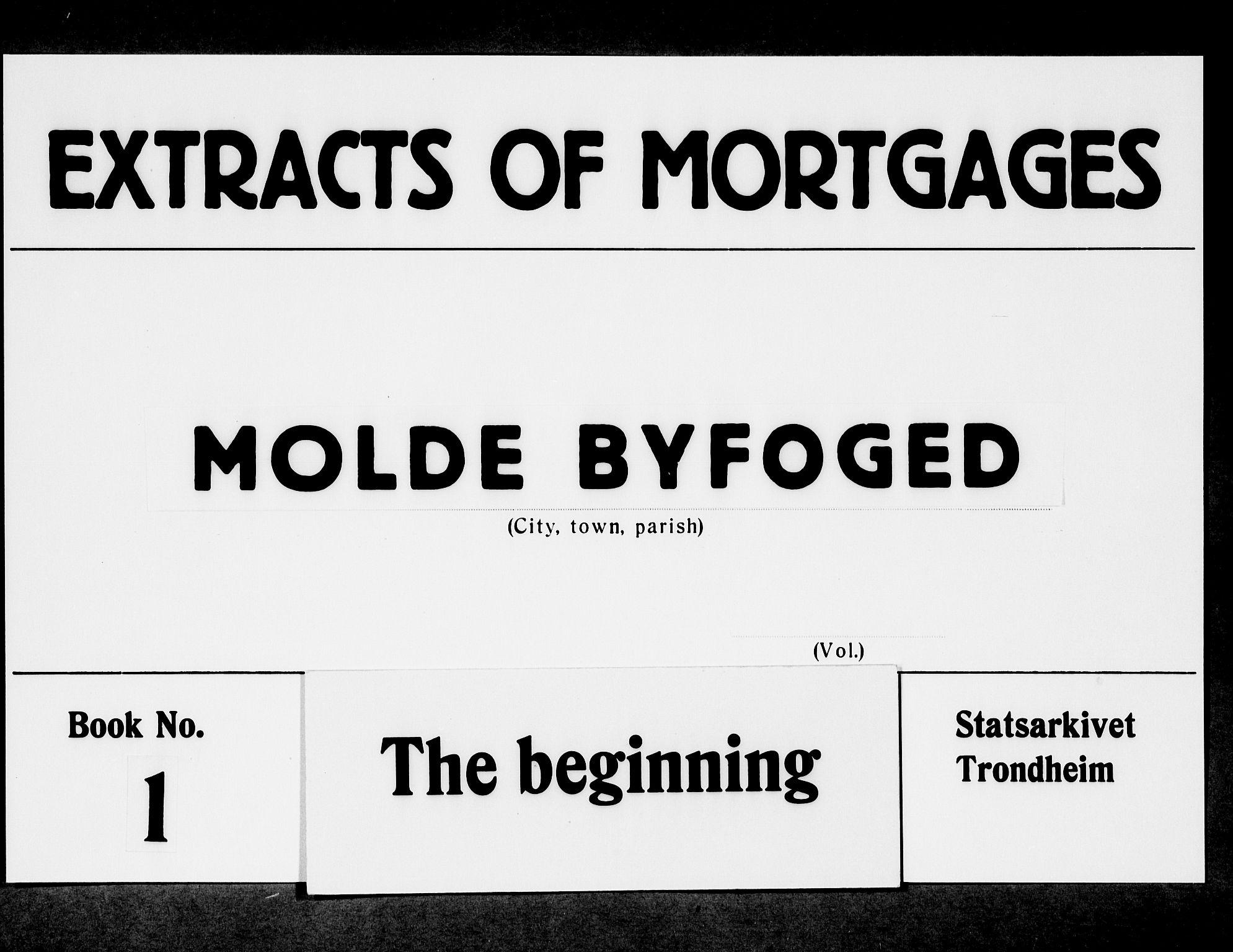 SAT, Molde byfogd, 2A/L0001: Panteregister nr. 1, 1790-1823