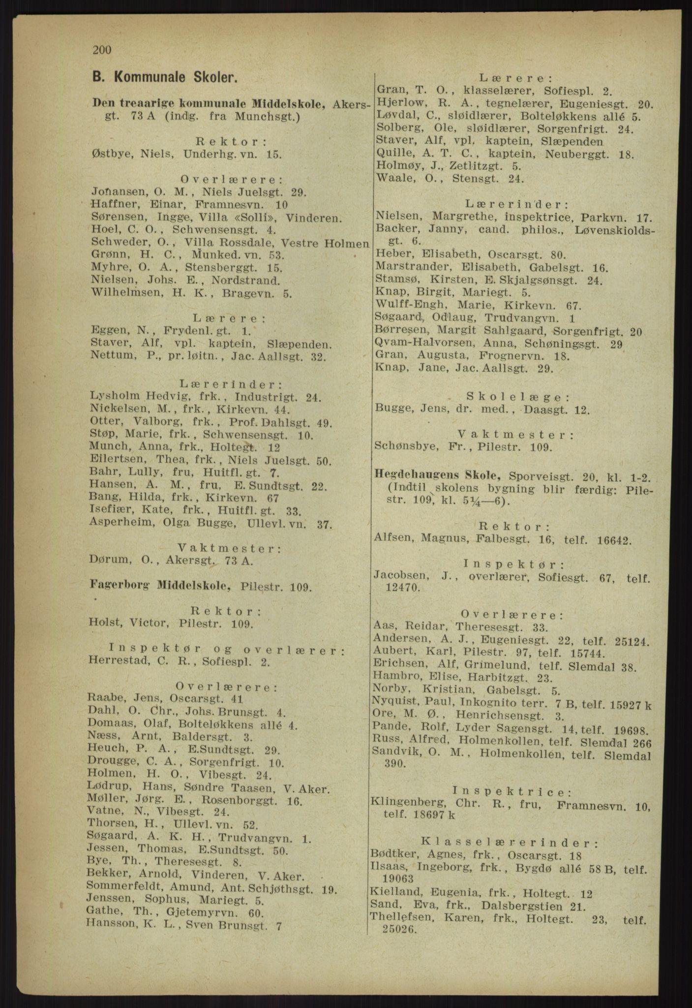 PUBL, Kristiania/Oslo adressebok, 1918, s. 213
