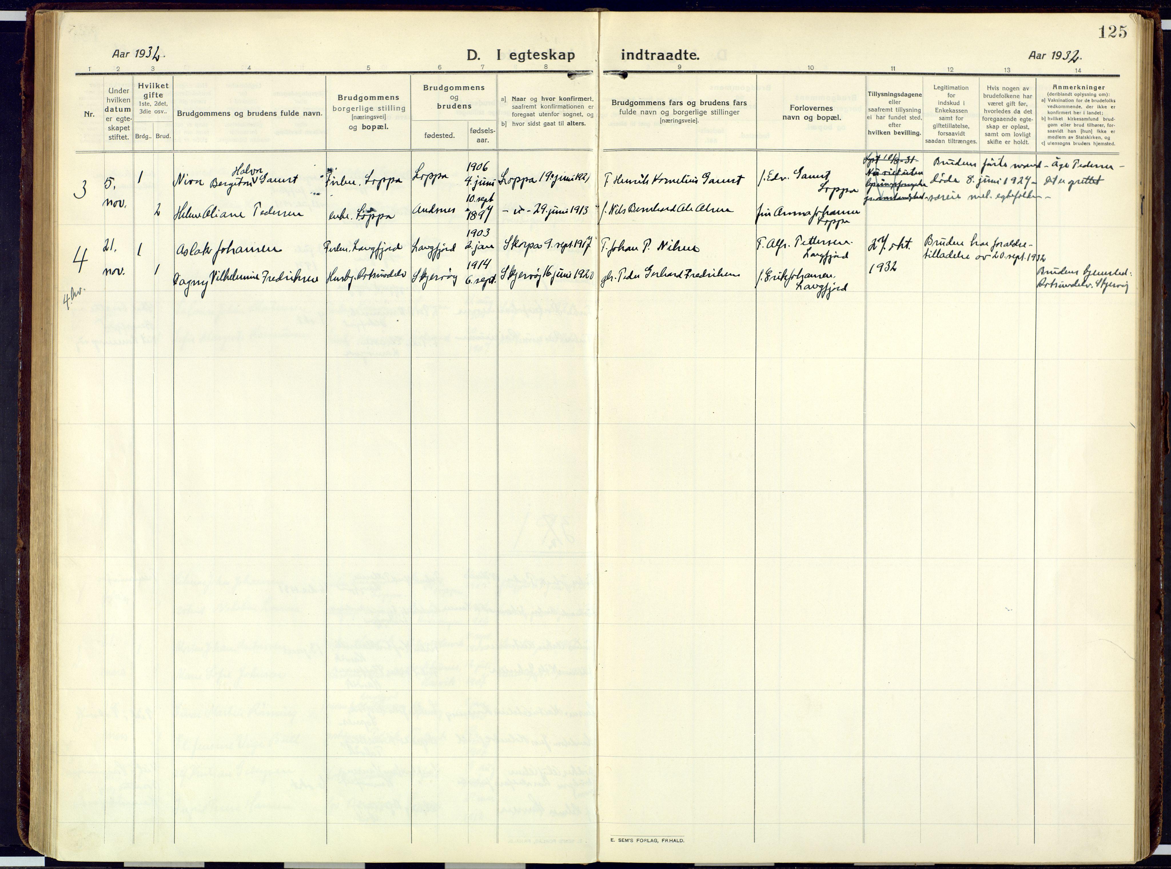 SATØ, Loppa sokneprestkontor, H/Ha/L0013kirke: Ministerialbok nr. 13, 1920-1932, s. 125