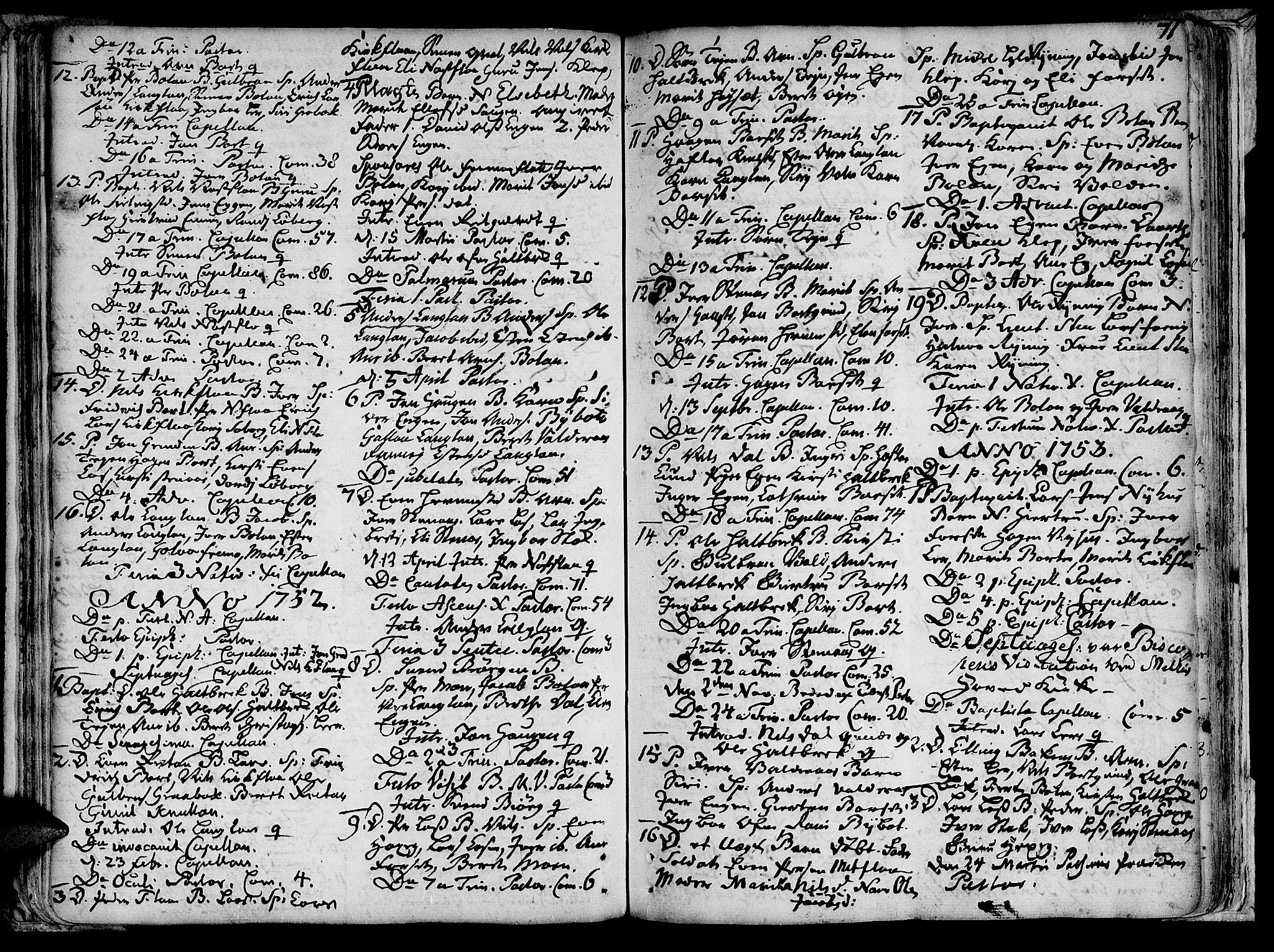 SAT, Ministerialprotokoller, klokkerbøker og fødselsregistre - Sør-Trøndelag, 691/L1058: Ministerialbok nr. 691A01 /2, 1740-1767, s. 71