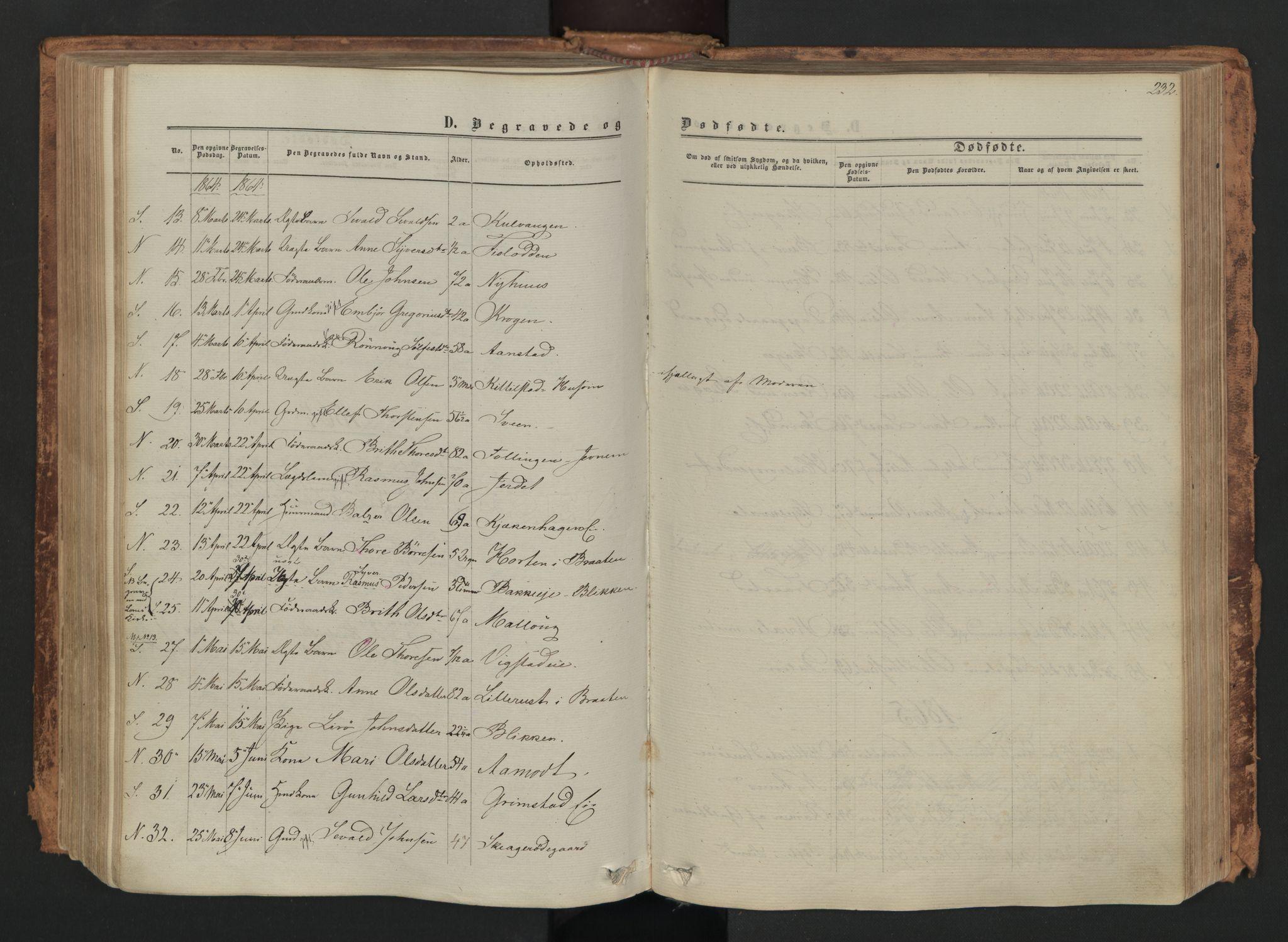 SAH, Skjåk prestekontor, Ministerialbok nr. 1, 1863-1879, s. 232