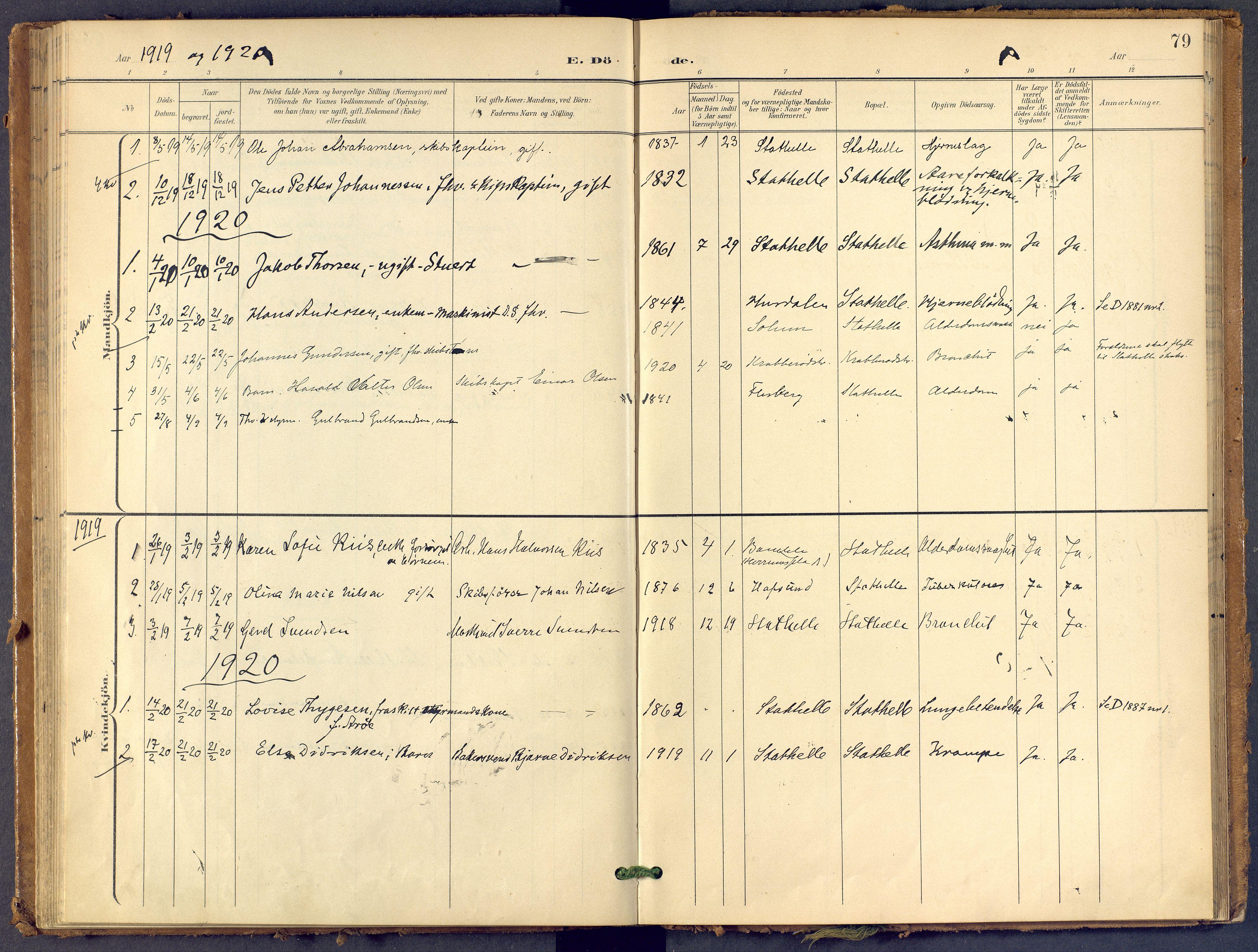 SAKO, Bamble kirkebøker, F/Fb/L0002: Ministerialbok nr. II 2, 1900-1921, s. 79