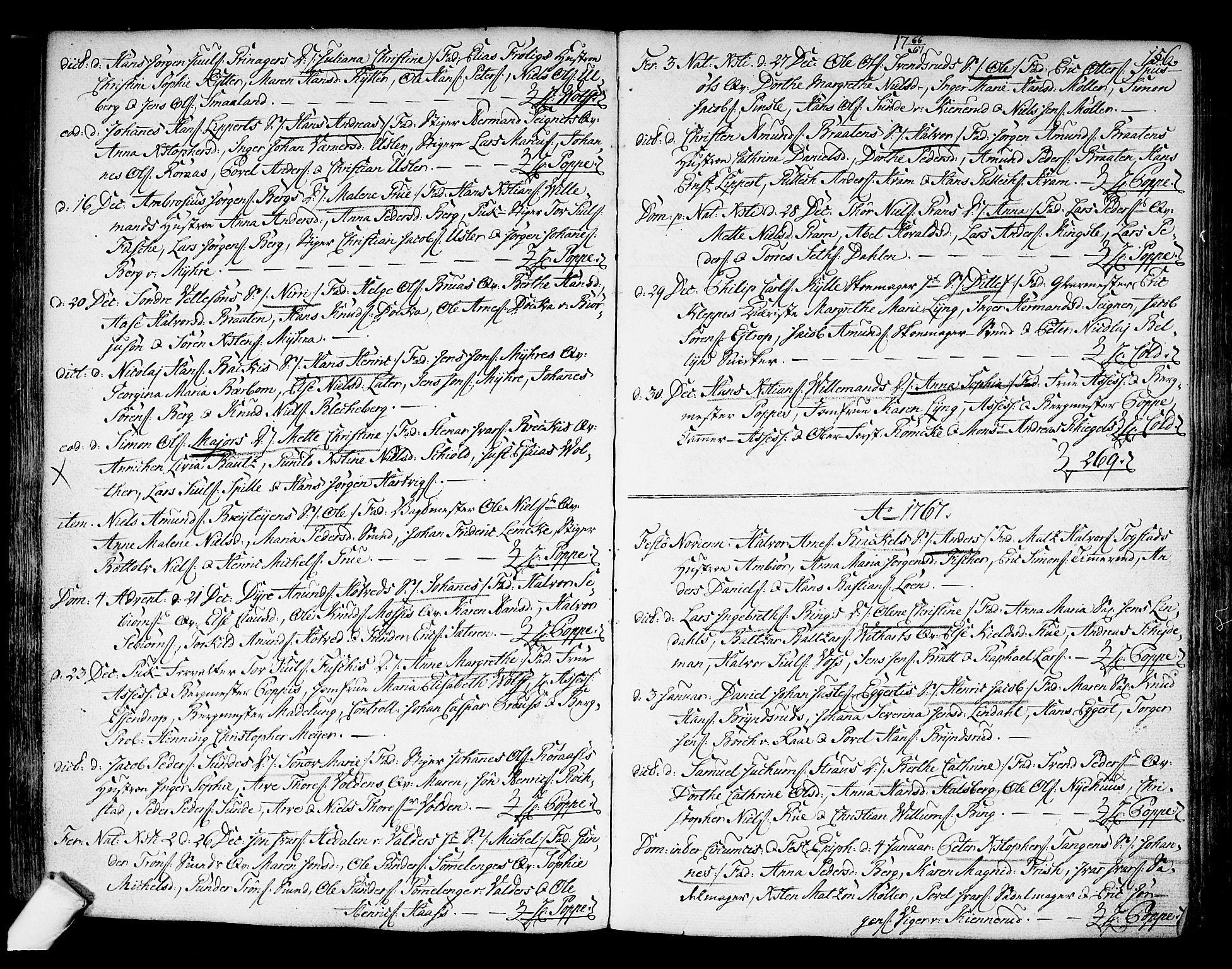 SAKO, Kongsberg kirkebøker, F/Fa/L0004: Ministerialbok nr. I 4, 1756-1768, s. 156