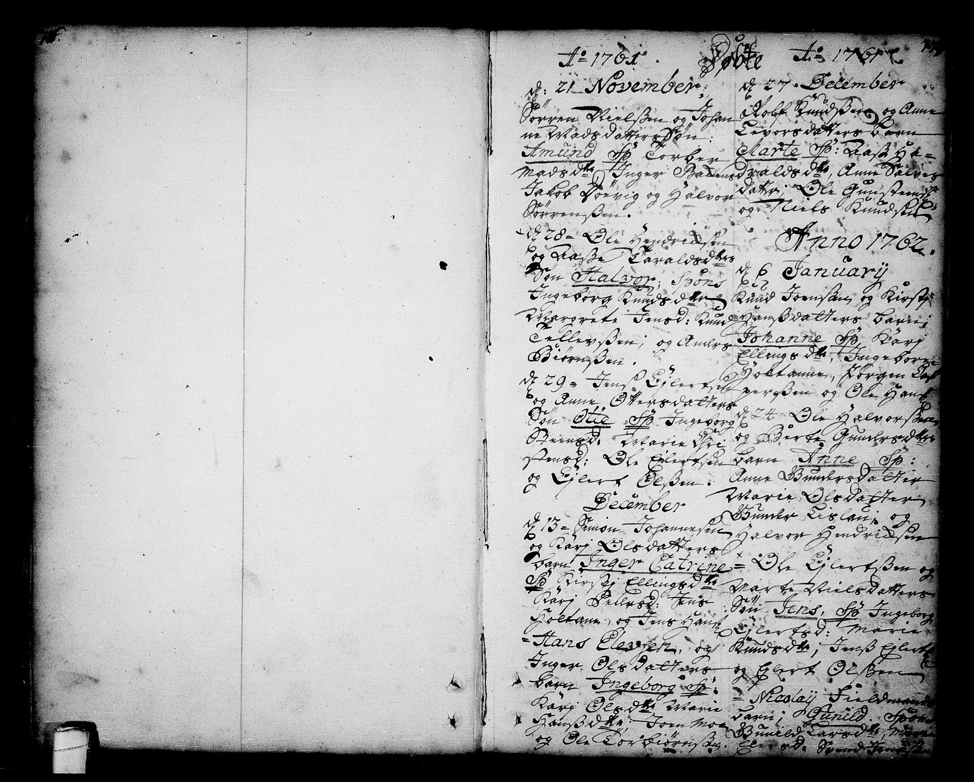 SAKO, Sannidal kirkebøker, F/Fa/L0001: Ministerialbok nr. 1, 1702-1766, s. 76-77