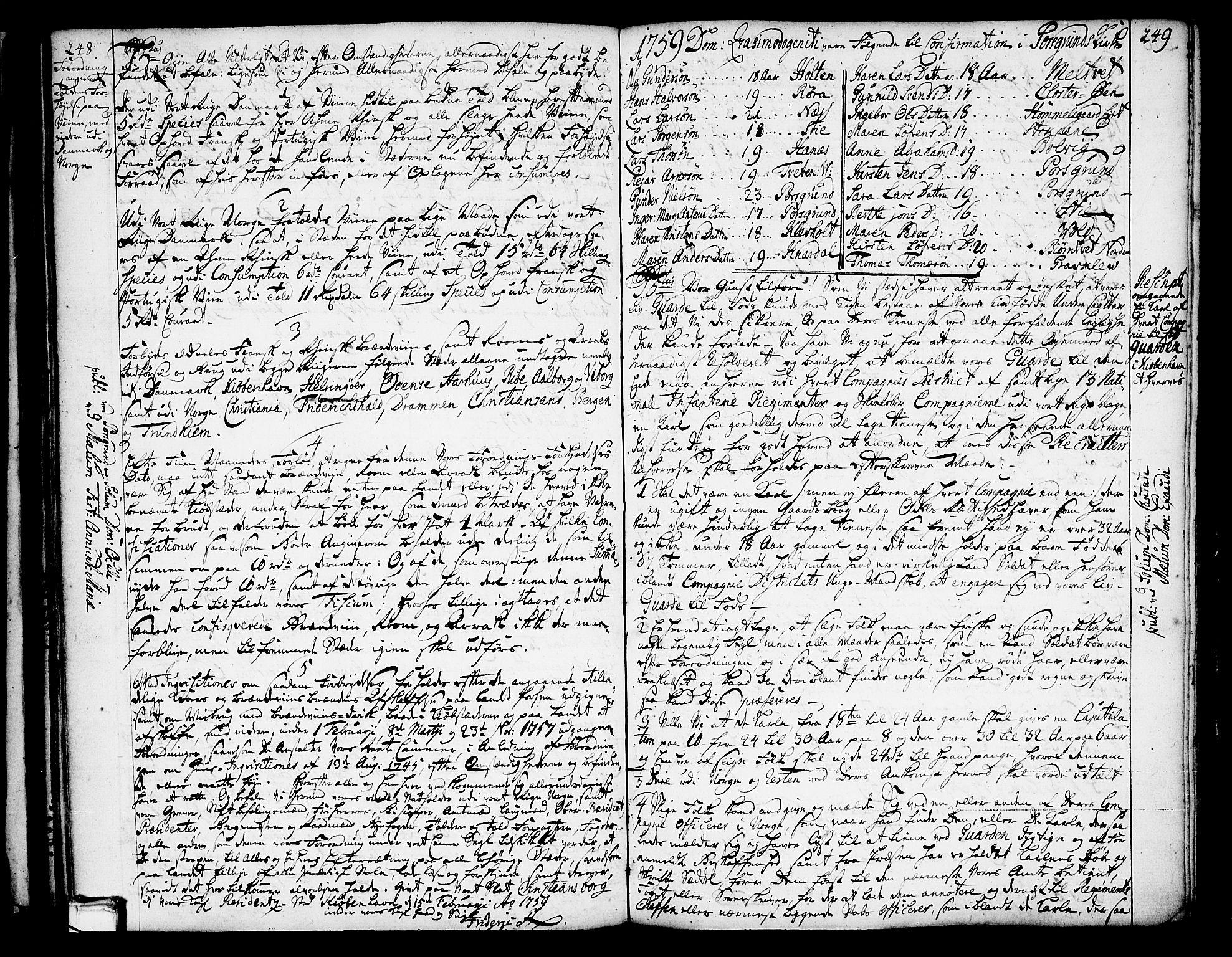 SAKO, Solum kirkebøker, Annen kirkebok nr. ?, 1743-1791, s. 248-249