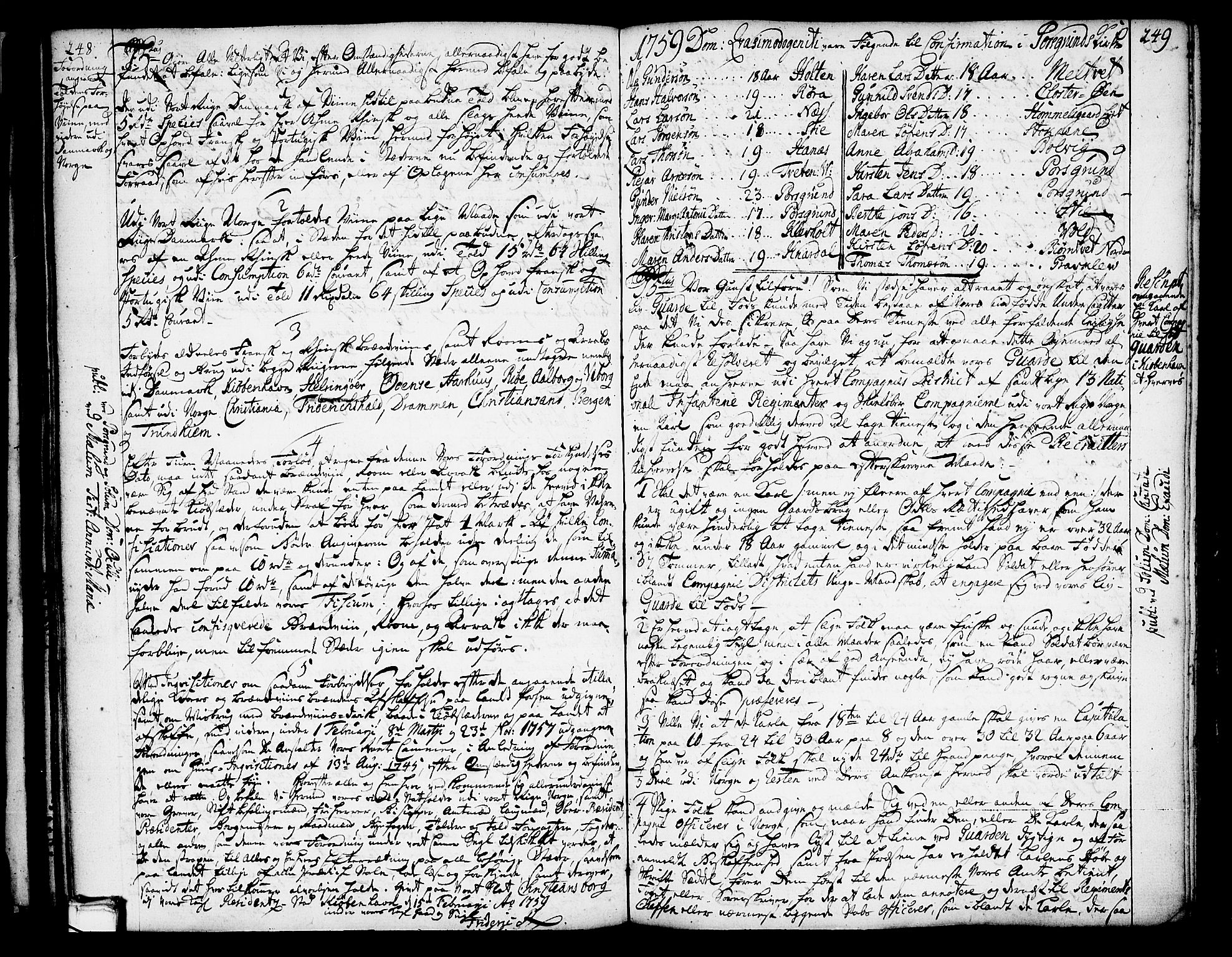 SAKO, Solum sokneprestkontor, A/Aa/L0002: Annen kirkebok nr. 2, 1743-1791, s. 248-249