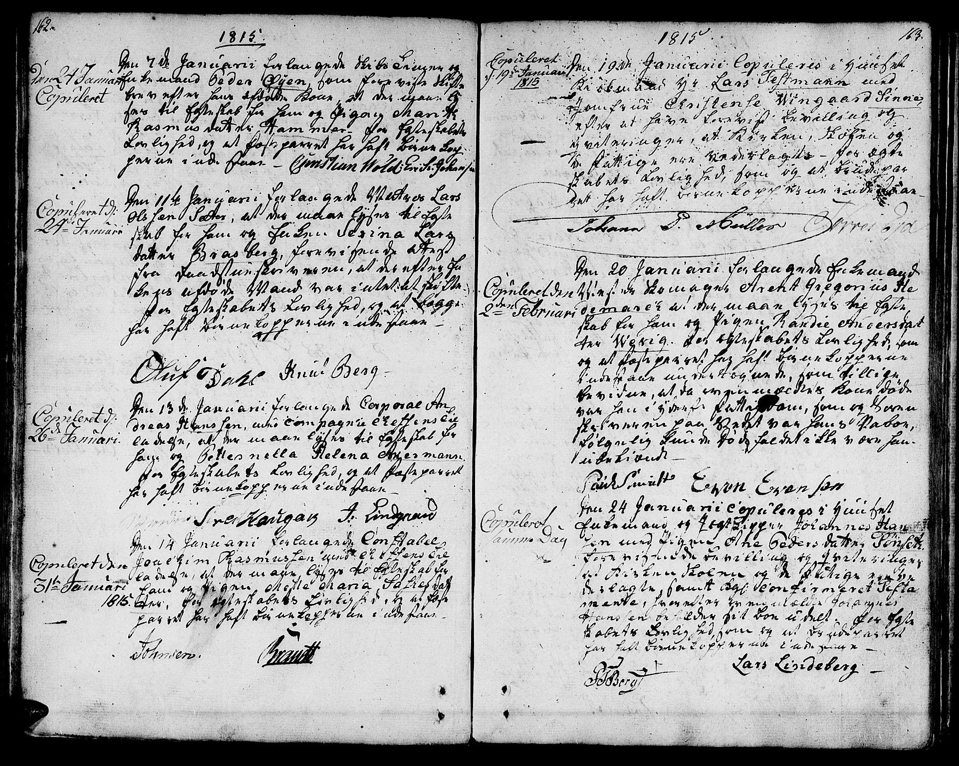 SAT, Ministerialprotokoller, klokkerbøker og fødselsregistre - Sør-Trøndelag, 601/L0042: Ministerialbok nr. 601A10, 1802-1830, s. 162-163
