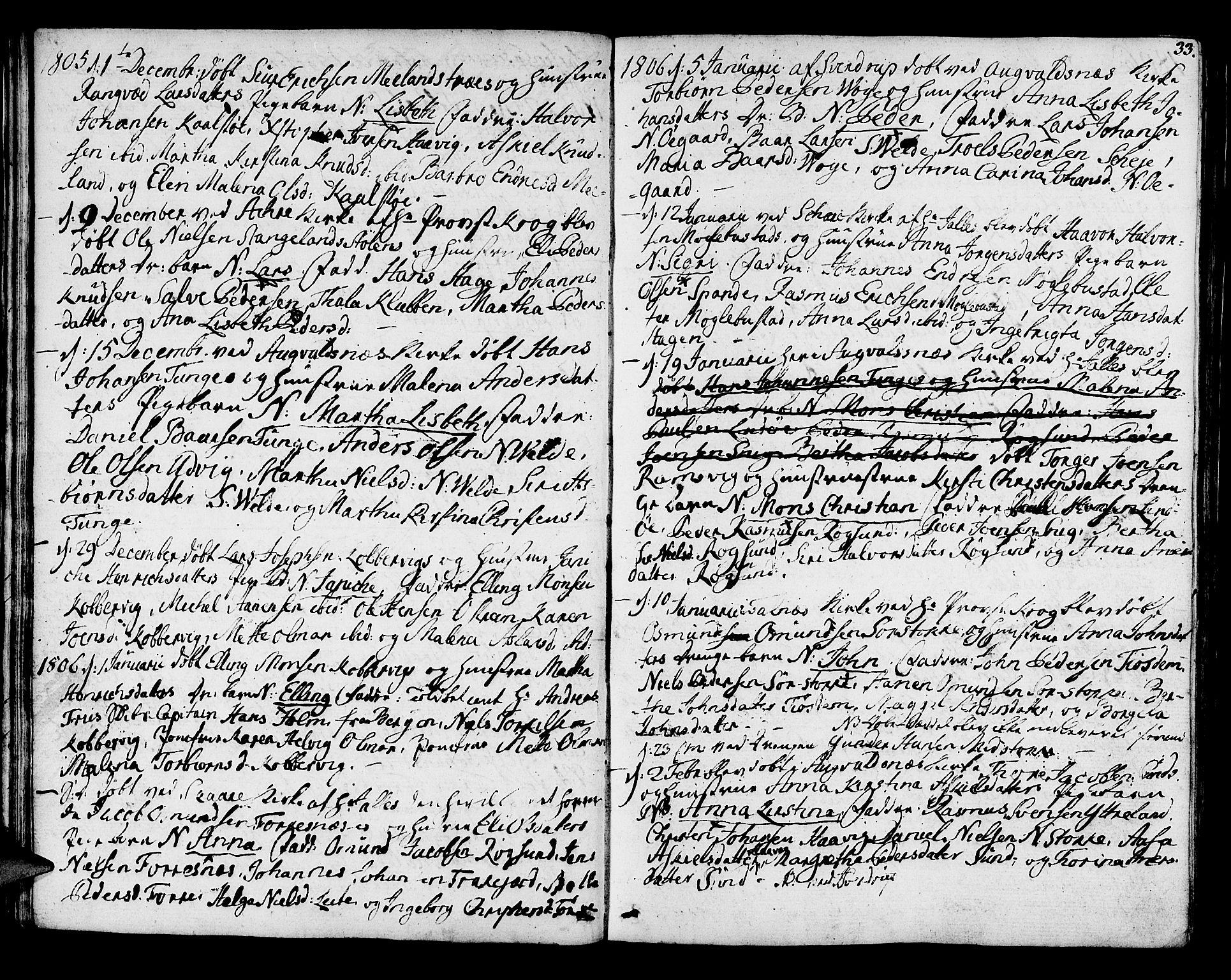 SAST, Avaldsnes sokneprestkontor, H/Ha/Haa/L0003: Ministerialbok nr. A 3, 1801-1817, s. 33