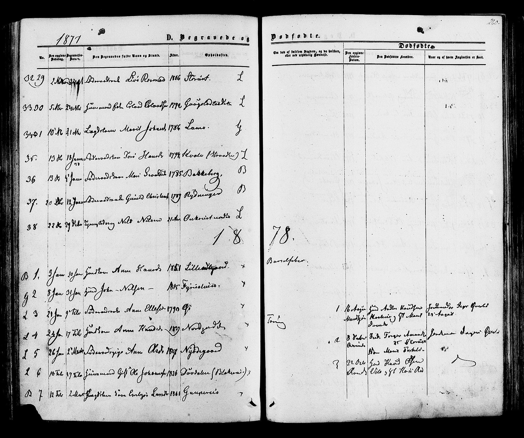 SAH, Lom prestekontor, K/L0007: Ministerialbok nr. 7, 1863-1884, s. 260