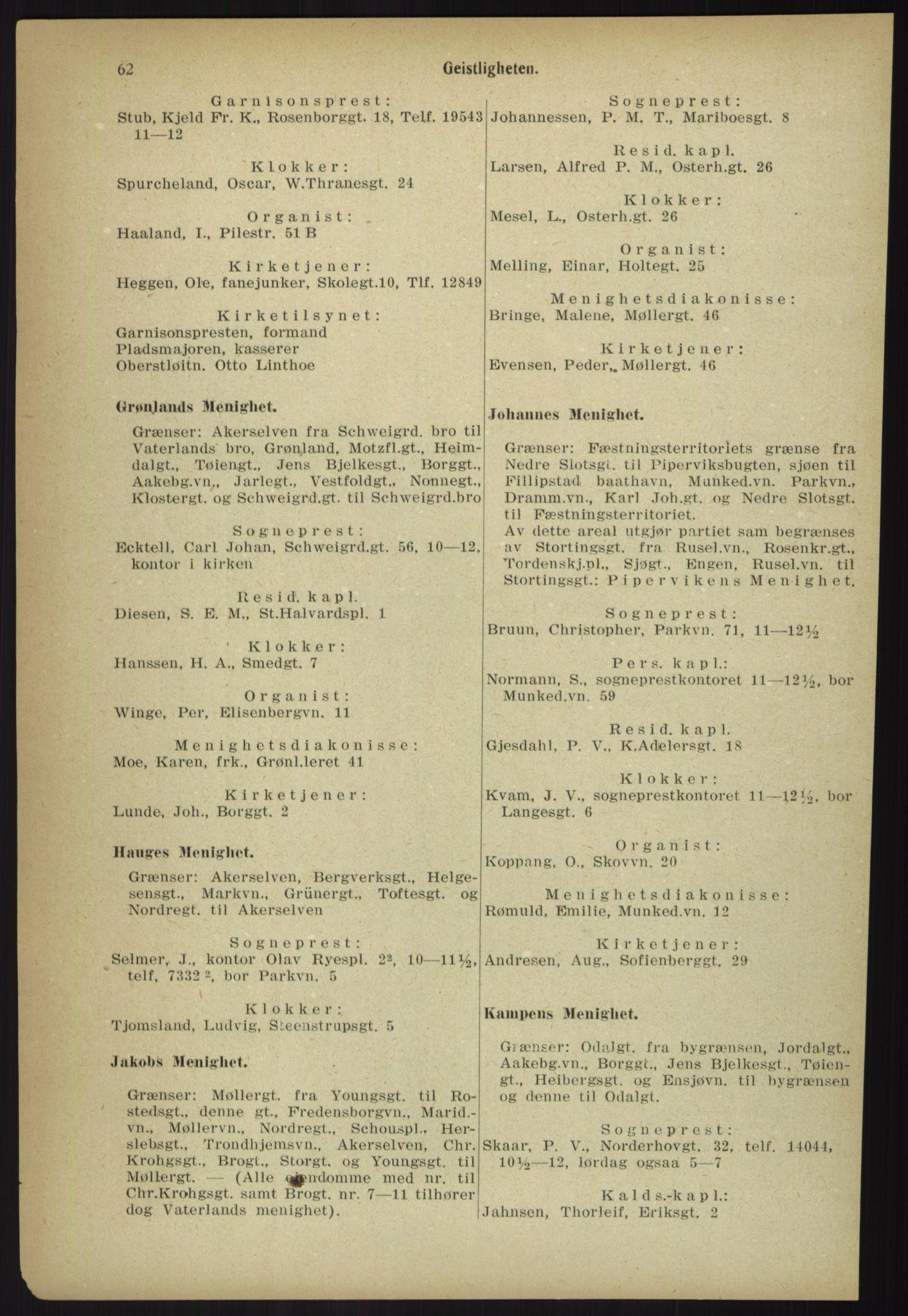 PUBL, Kristiania/Oslo adressebok, 1918, s. 69
