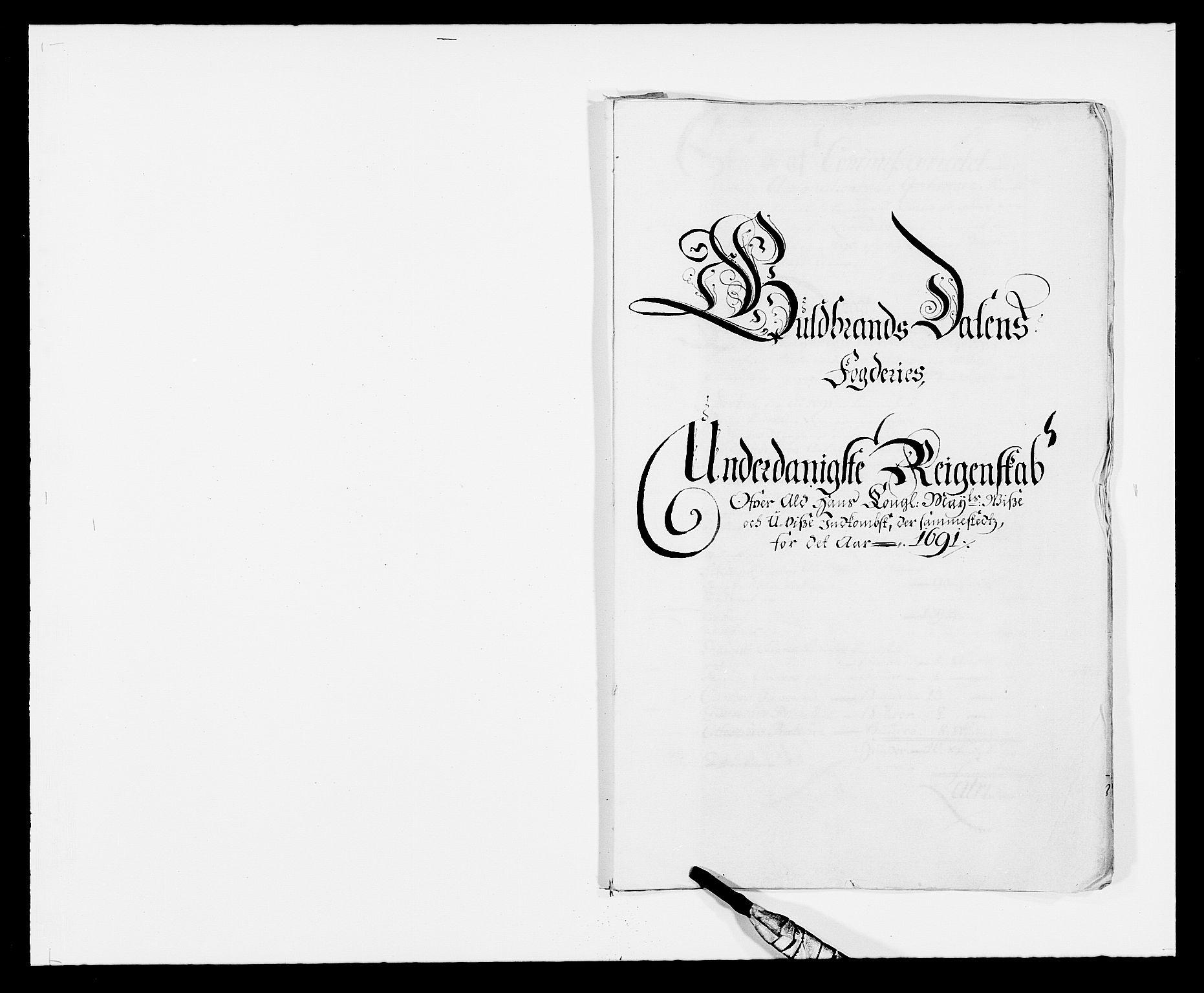RA, Rentekammeret inntil 1814, Reviderte regnskaper, Fogderegnskap, R17/L1165: Fogderegnskap Gudbrandsdal, 1690-1692, s. 196
