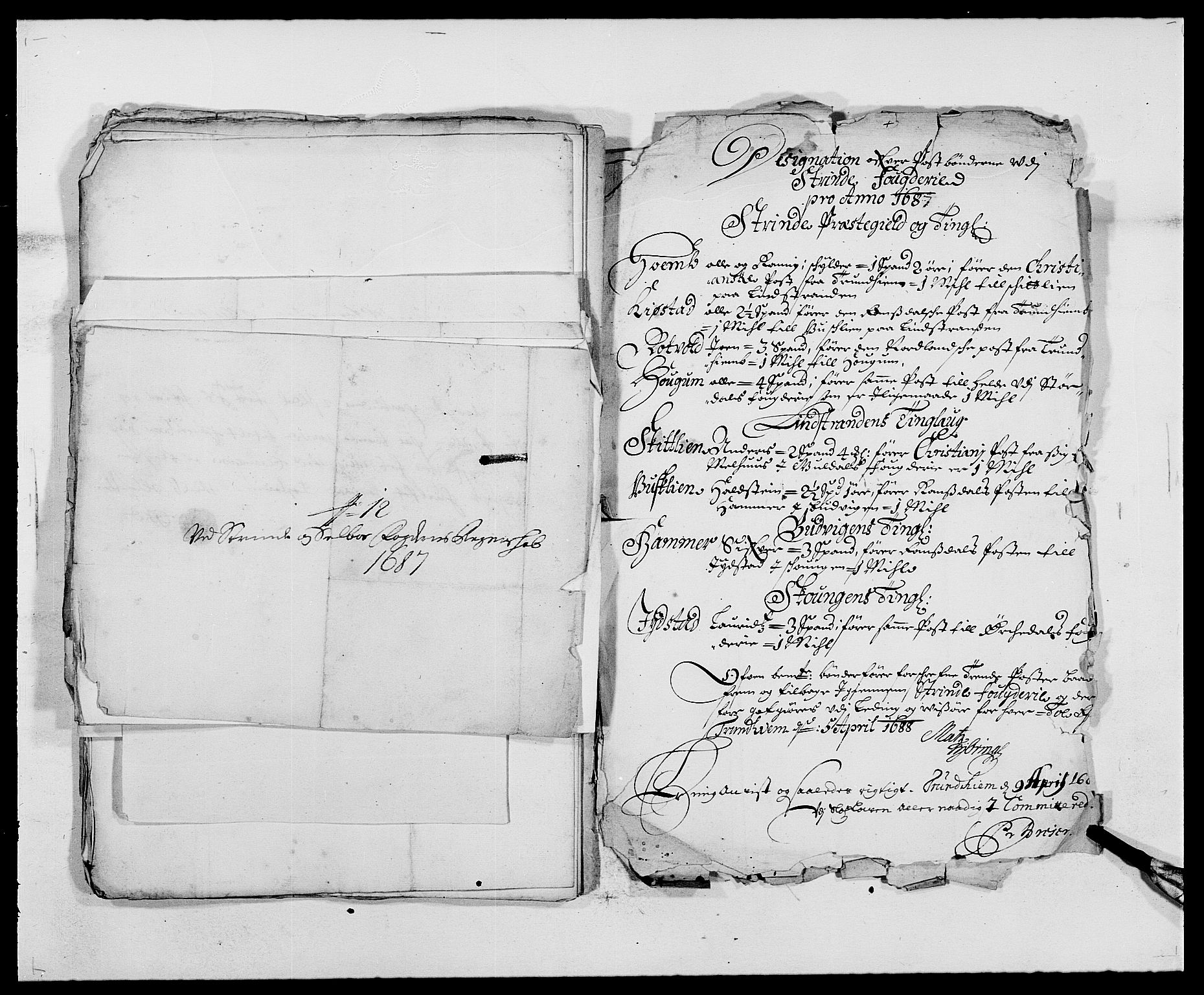 RA, Rentekammeret inntil 1814, Reviderte regnskaper, Fogderegnskap, R61/L4101: Fogderegnskap Strinda og Selbu, 1687-1688, s. 152