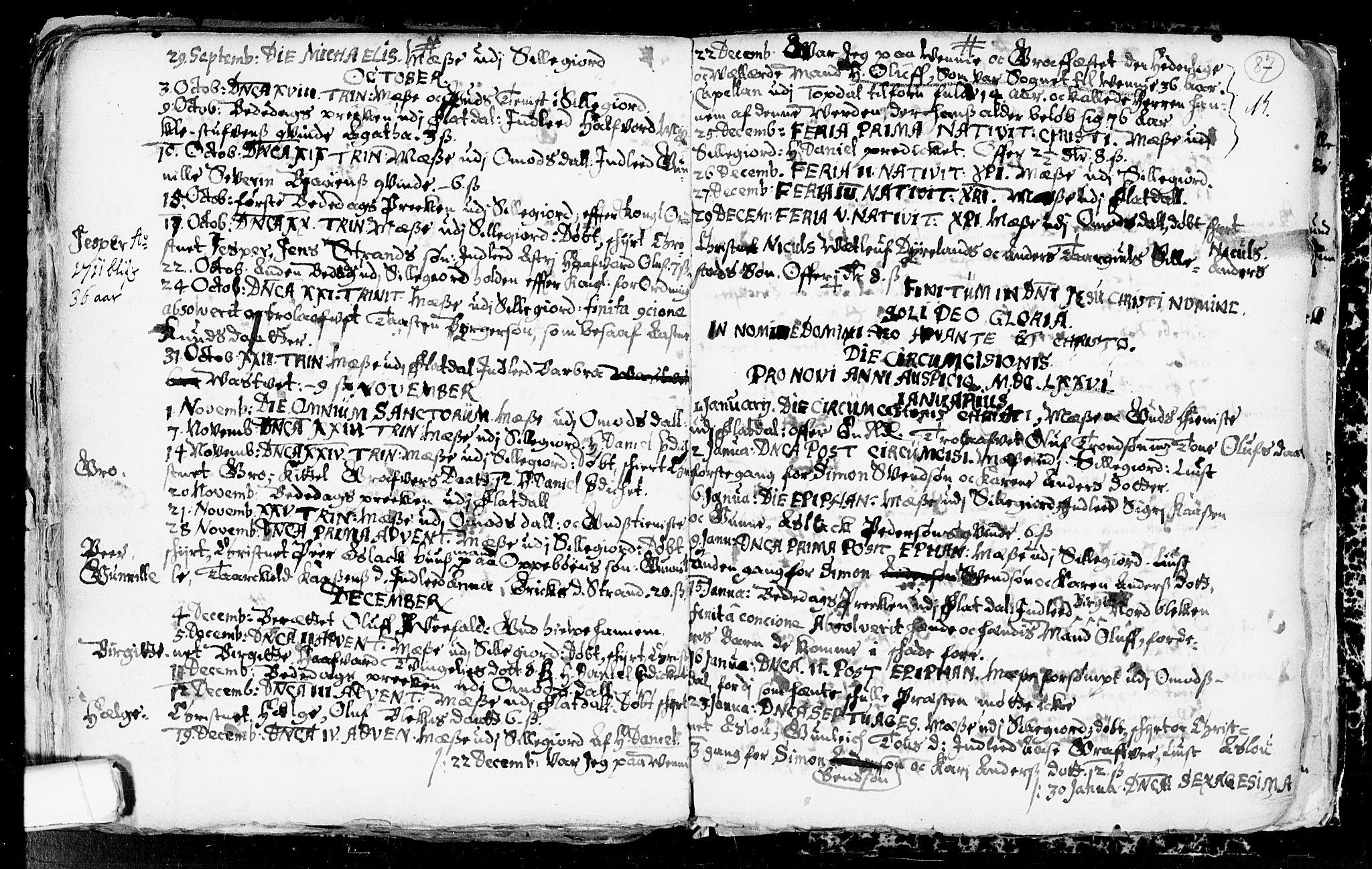 SAKO, Seljord kirkebøker, F/Fa/L0001: Ministerialbok nr. I 1, 1654-1686, s. 87