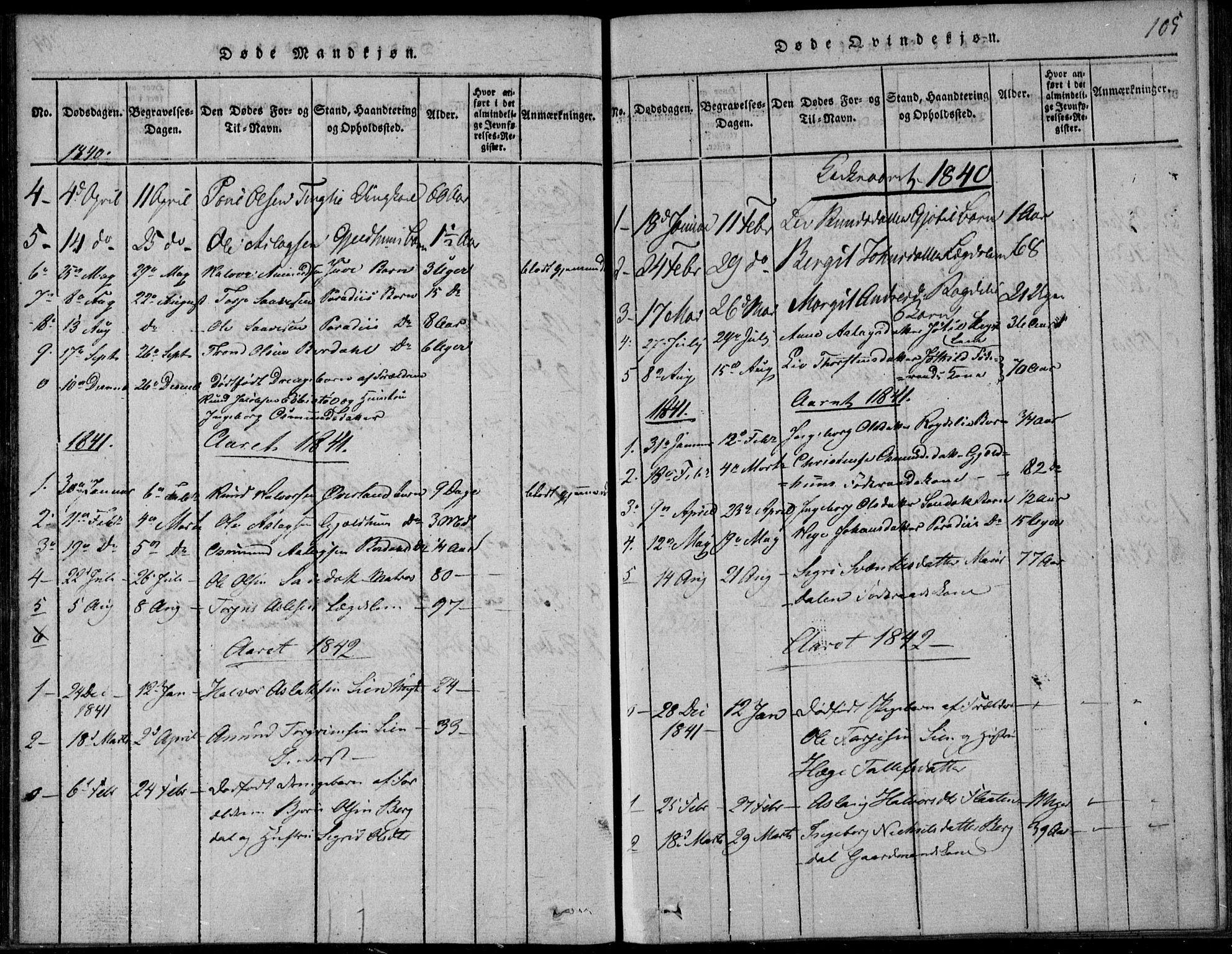 SAKO, Vinje kirkebøker, F/Fb/L0001: Ministerialbok nr. II 1, 1814-1843, s. 105