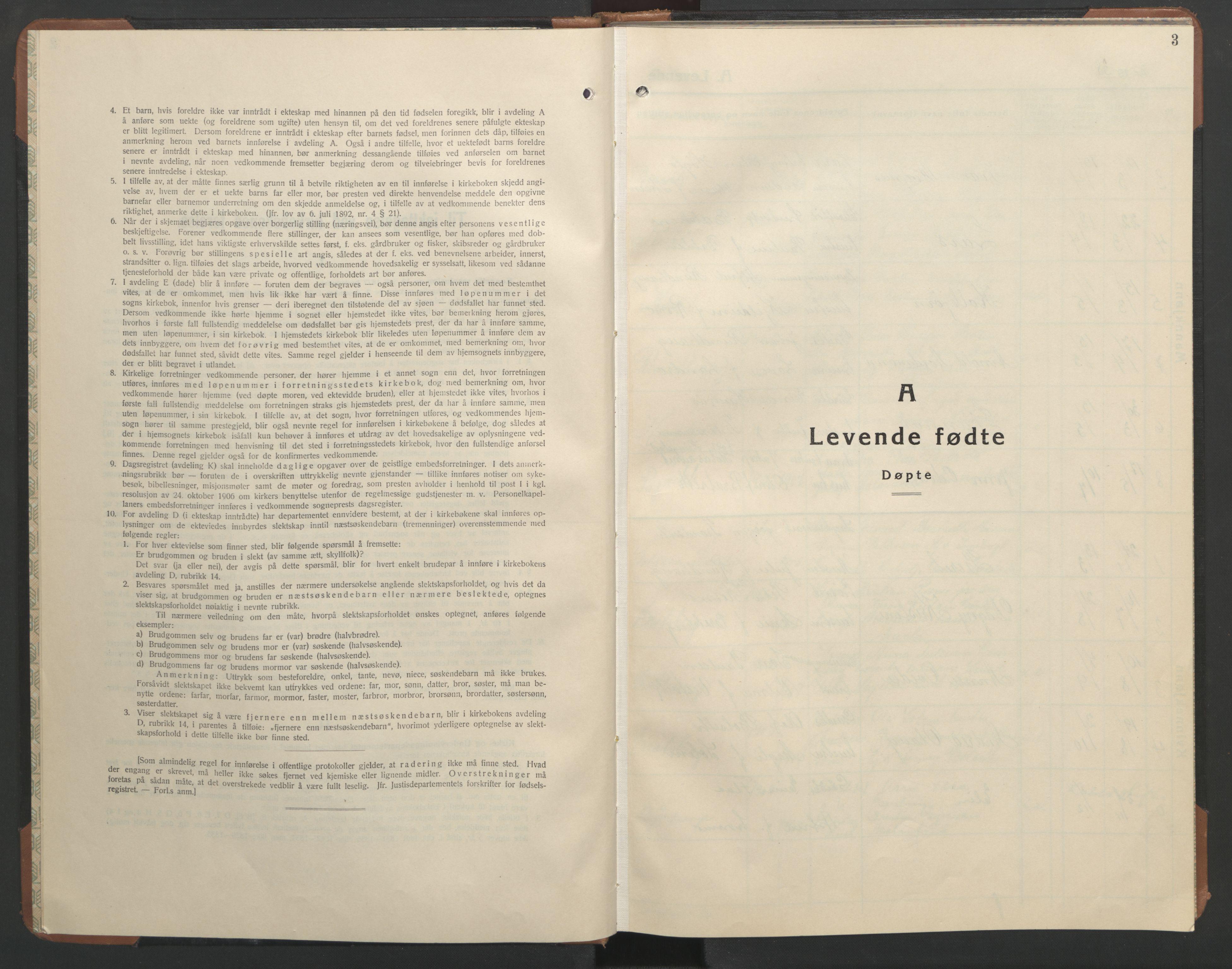 SAT, Ministerialprotokoller, klokkerbøker og fødselsregistre - Sør-Trøndelag, 608/L0343: Klokkerbok nr. 608C09, 1938-1952, s. 3