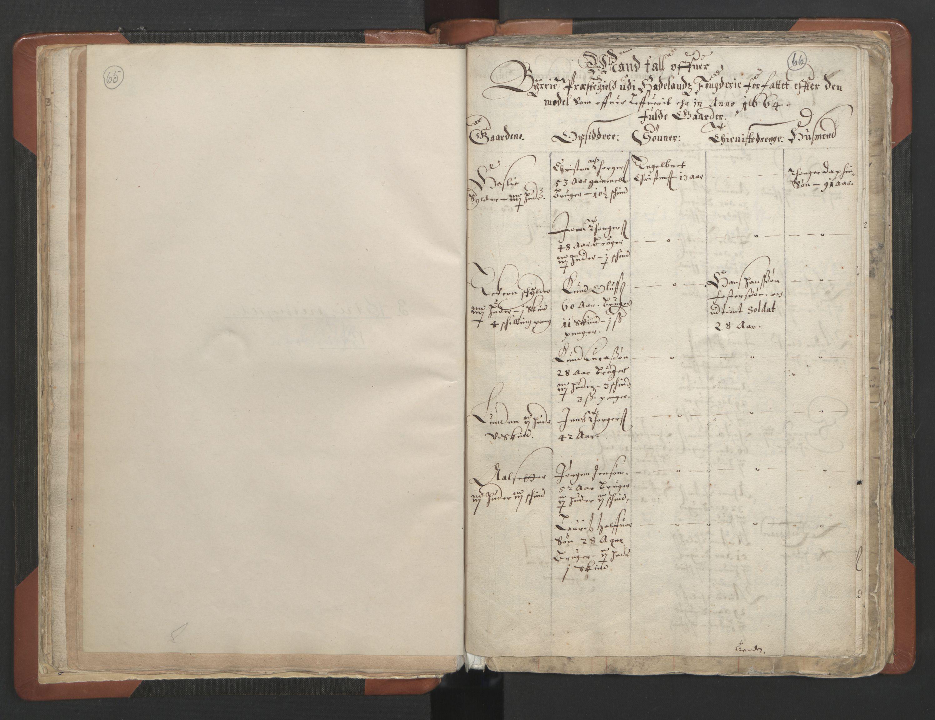 RA, Sogneprestenes manntall 1664-1666, nr. 7: Hadeland prosti, 1664-1666, s. 65-66