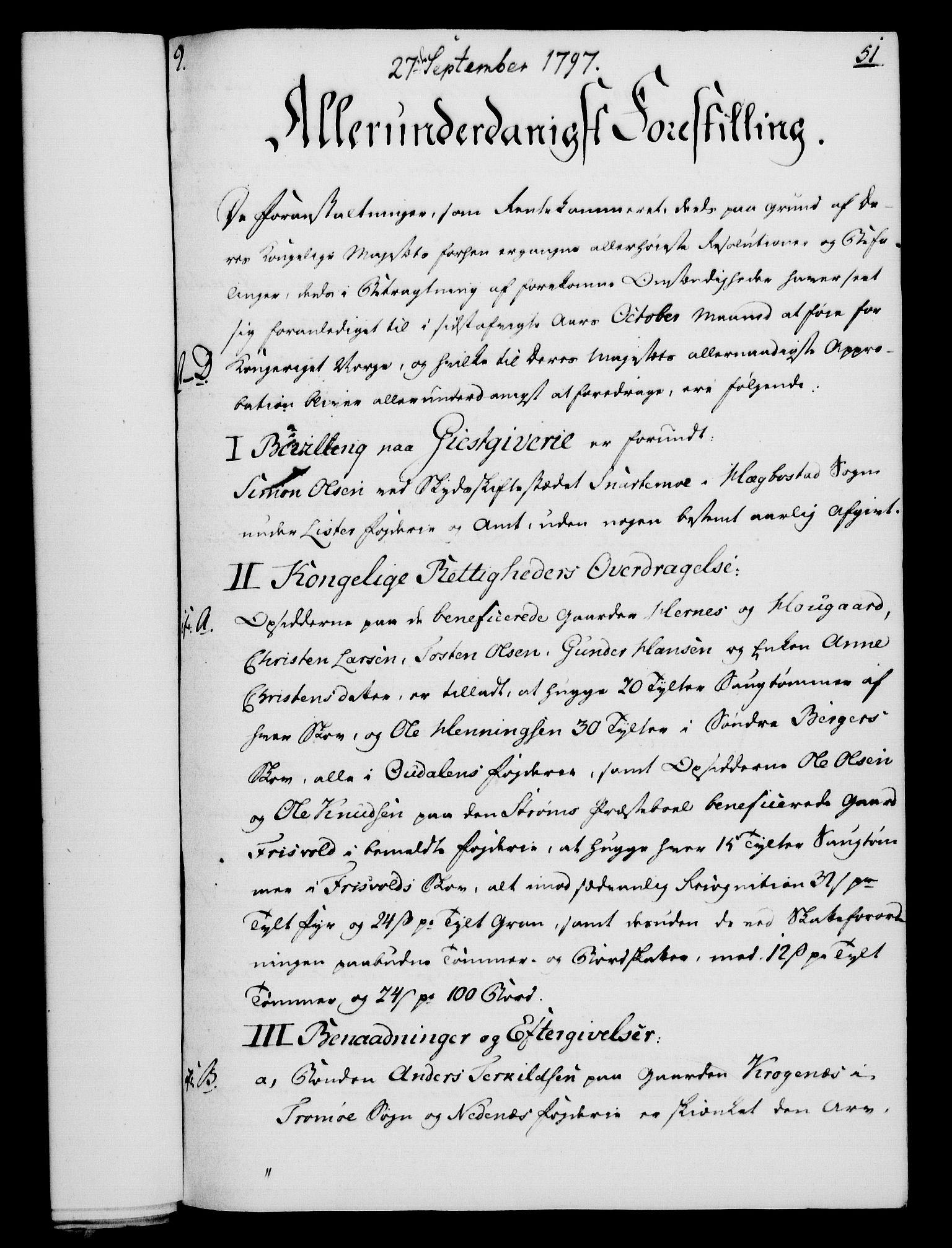 RA, Rentekammeret, Kammerkanselliet, G/Gf/Gfa/L0079: Norsk relasjons- og resolusjonsprotokoll (merket RK 52.79), 1797, s. 267