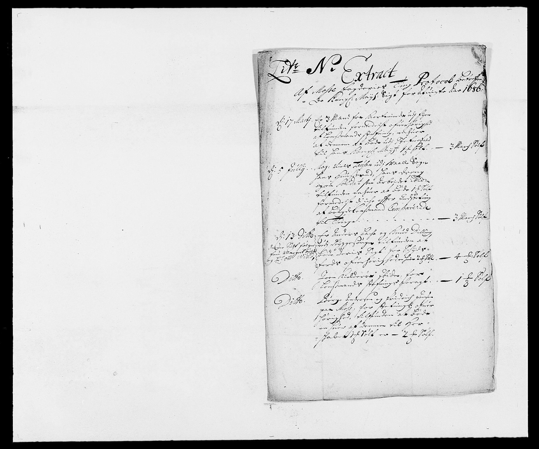 RA, Rentekammeret inntil 1814, Reviderte regnskaper, Fogderegnskap, R02/L0105: Fogderegnskap Moss og Verne kloster, 1685-1687, s. 175