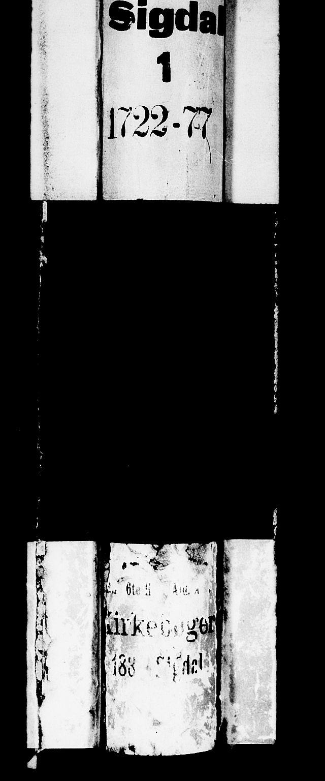 SAKO, Sigdal kirkebøker, F/Fa/L0001: Ministerialbok nr. I 1, 1722-1777