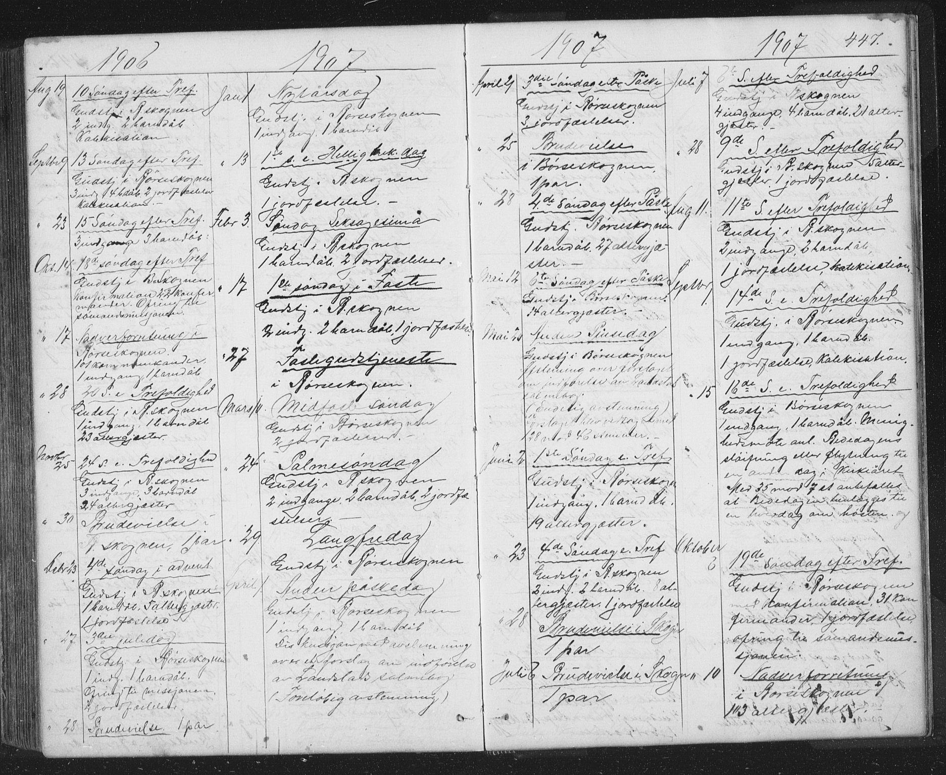 SAT, Ministerialprotokoller, klokkerbøker og fødselsregistre - Sør-Trøndelag, 667/L0798: Klokkerbok nr. 667C03, 1867-1929, s. 447