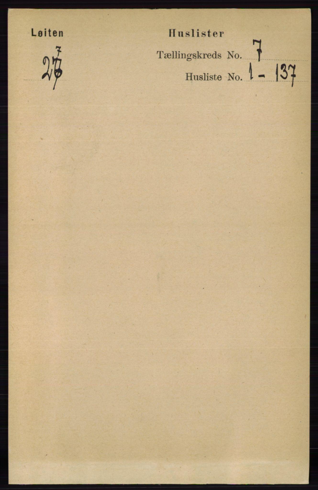 RA, Folketelling 1891 for 0415 Løten herred, 1891, s. 4268