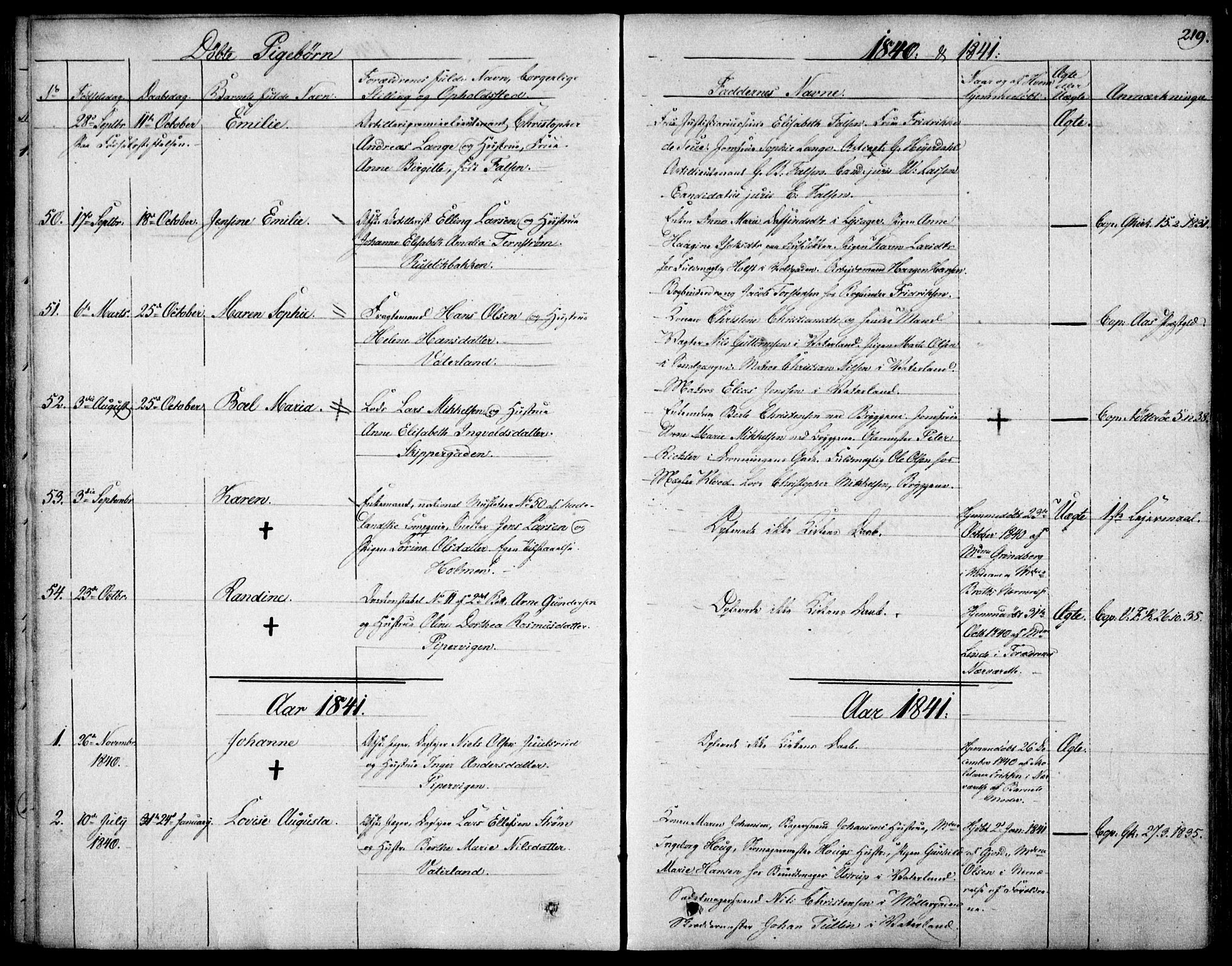 SAO, Garnisonsmenigheten Kirkebøker, F/Fa/L0006: Ministerialbok nr. 6, 1828-1841, s. 219