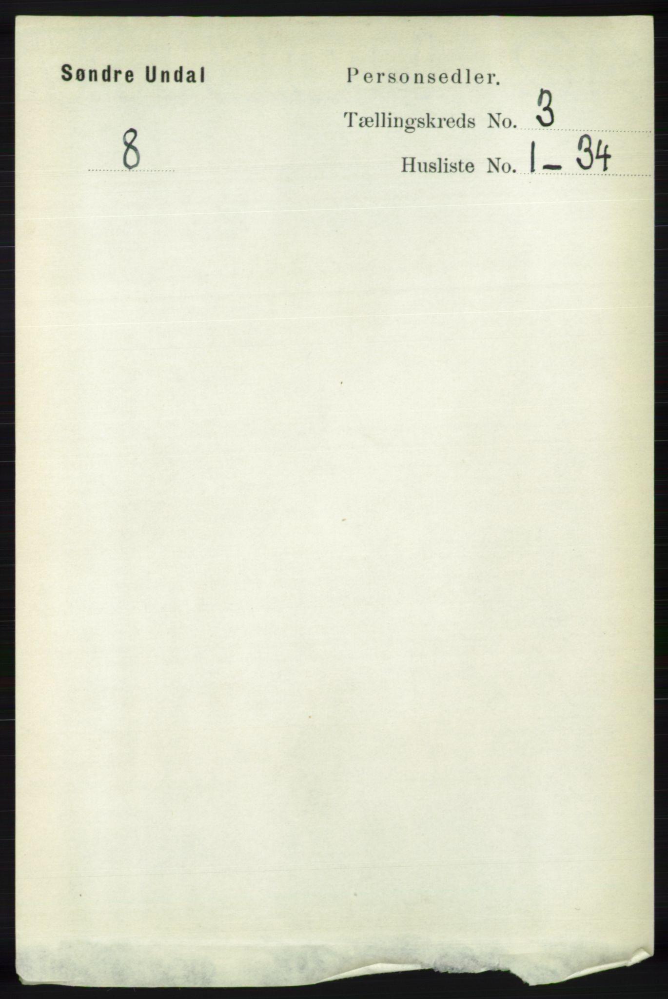 RA, Folketelling 1891 for 1029 Sør-Audnedal herred, 1891, s. 807